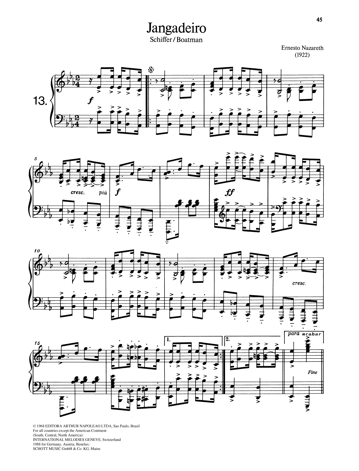 Jangadeiro Sheet Music
