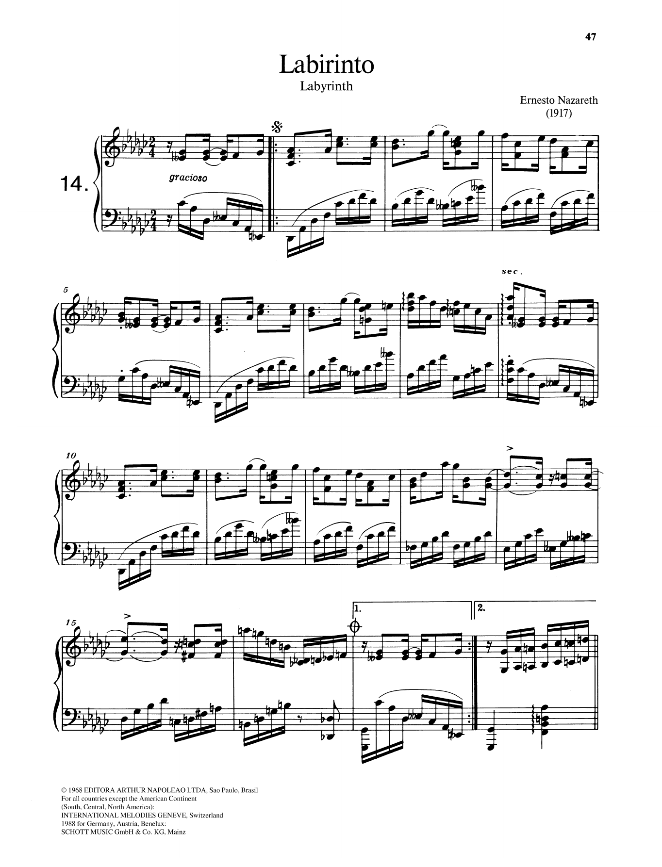 Labirinto Sheet Music