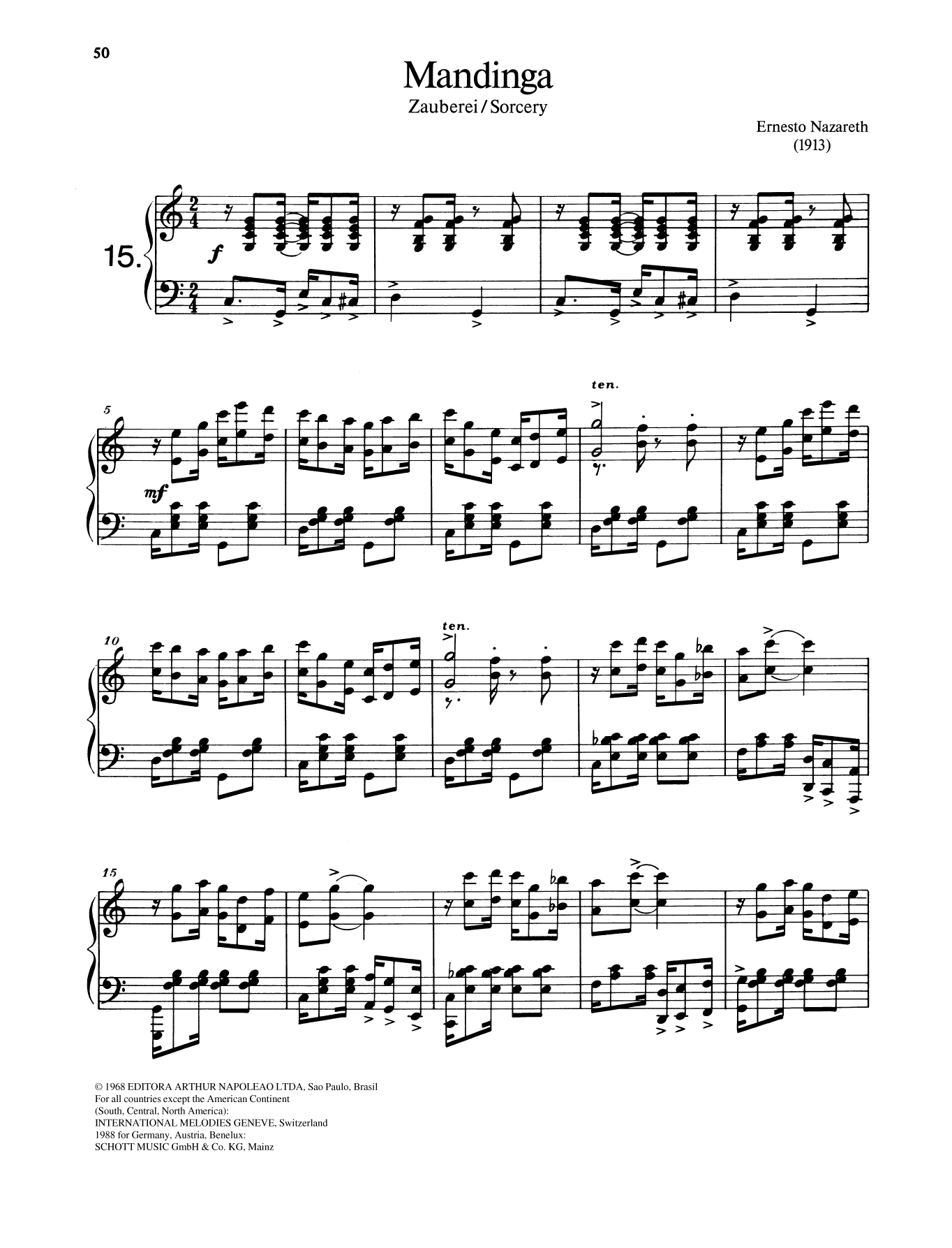 Mandinga Sheet Music
