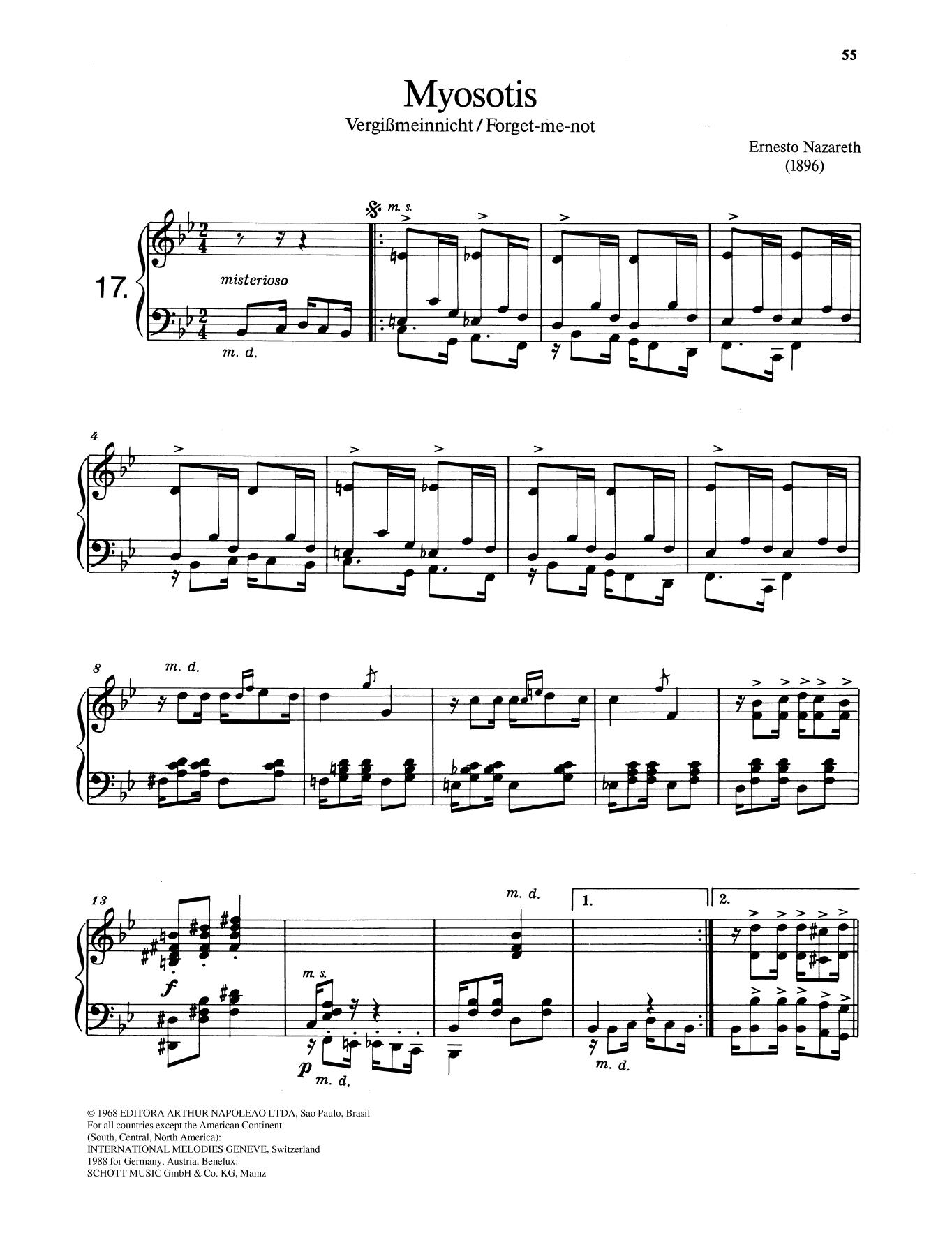 Myosotis Sheet Music