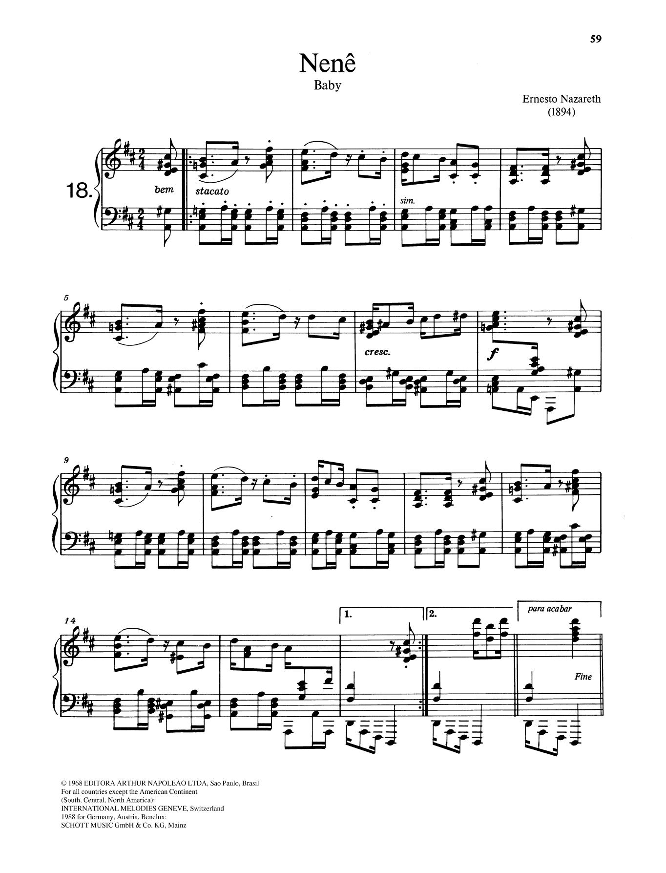 Nenê Sheet Music