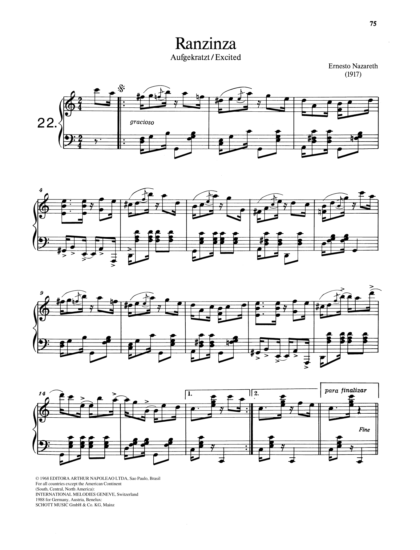 Ranzinza Sheet Music