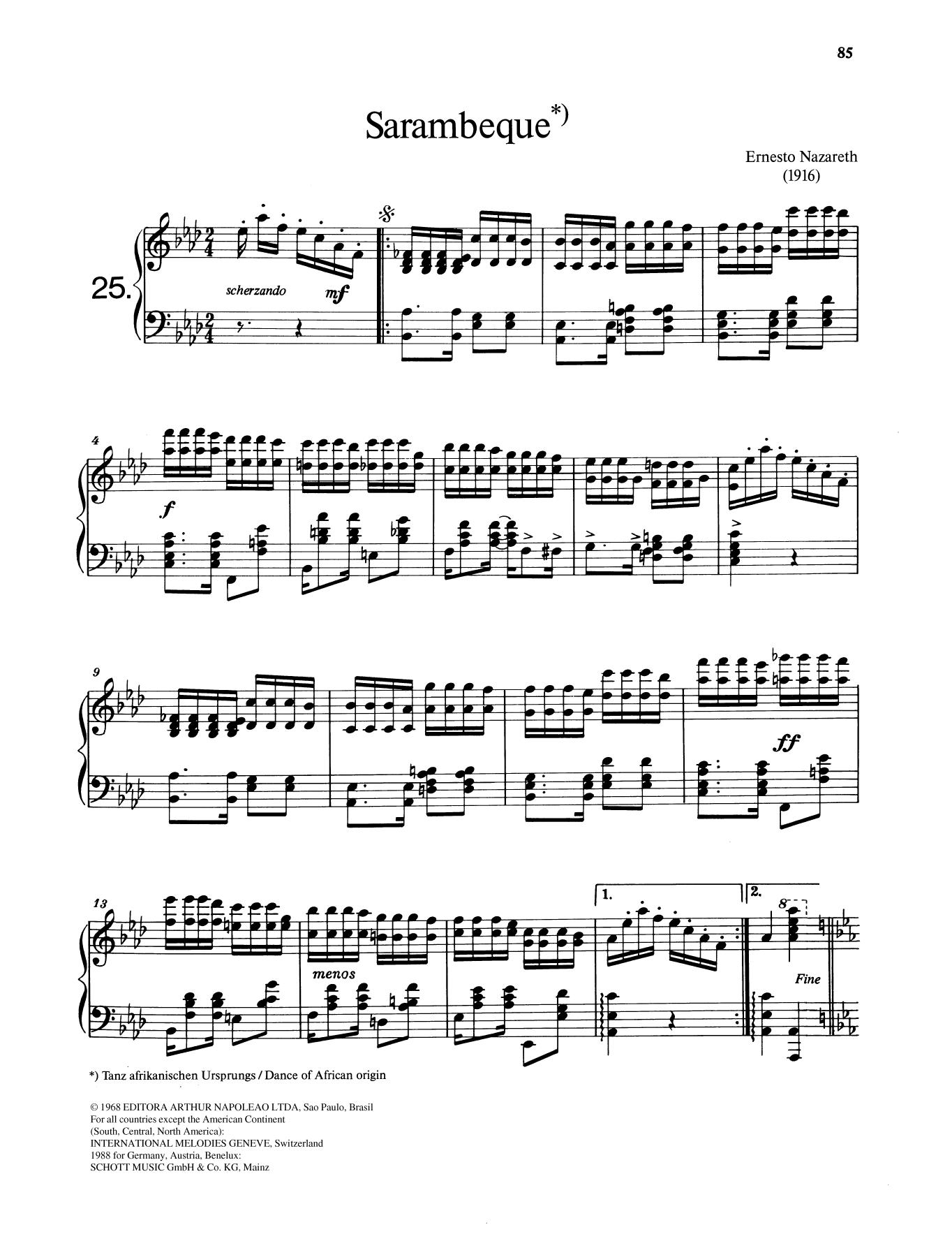 Sarambeque Sheet Music