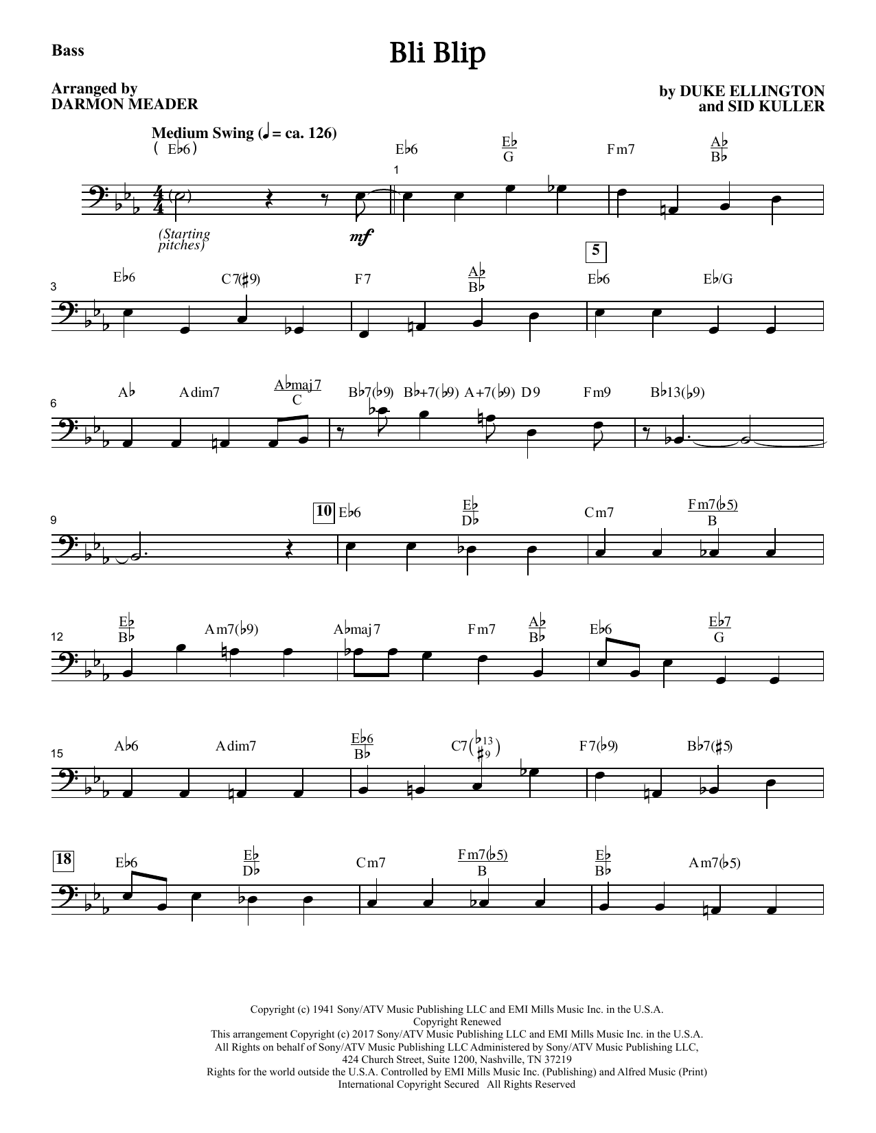Bli-blip - Bass Sheet Music