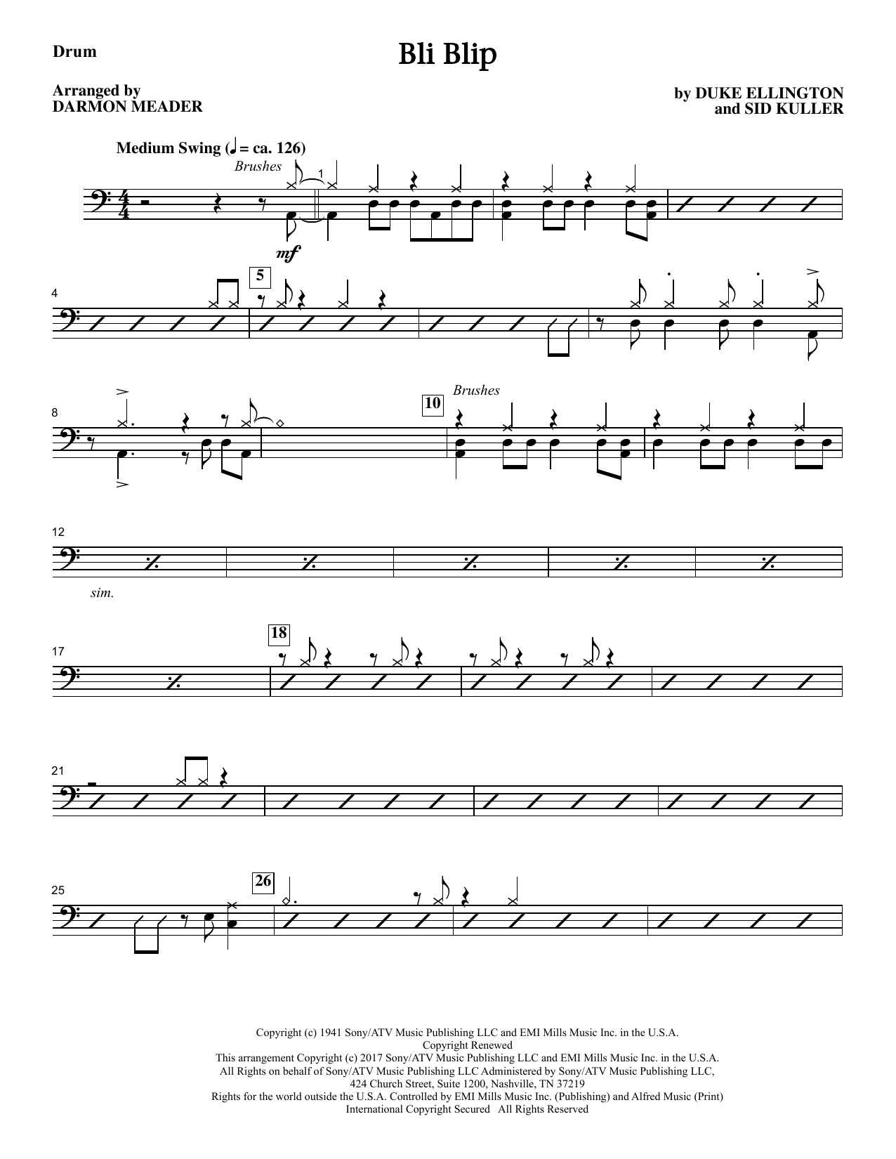 Bli-blip - Drums Sheet Music
