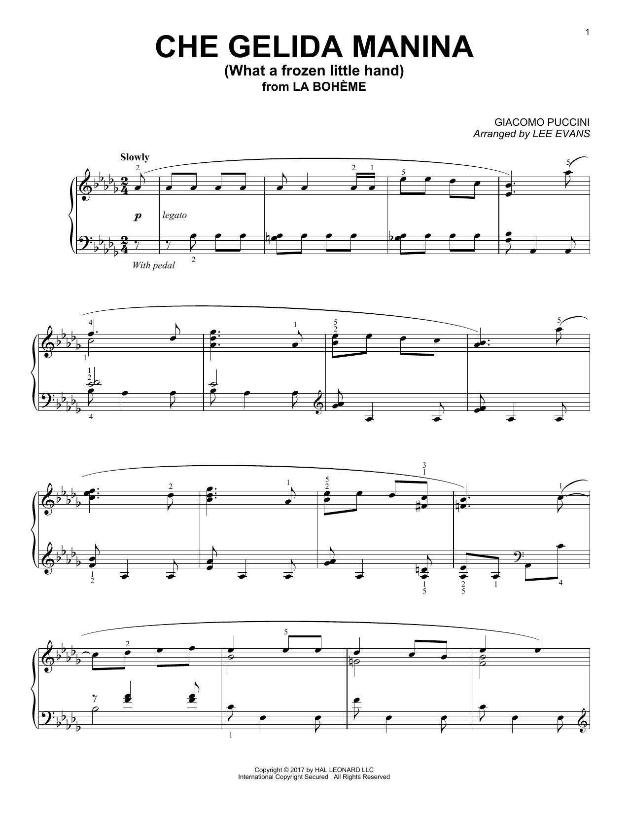 Che gelida manina from La Bohème (arr. Lee Evans) (Piano Solo)