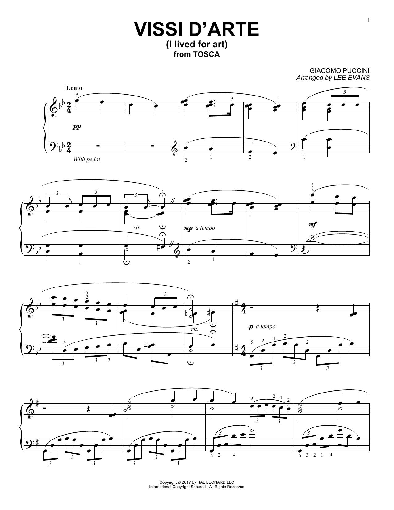 Vissi D'arte (Piano Solo)