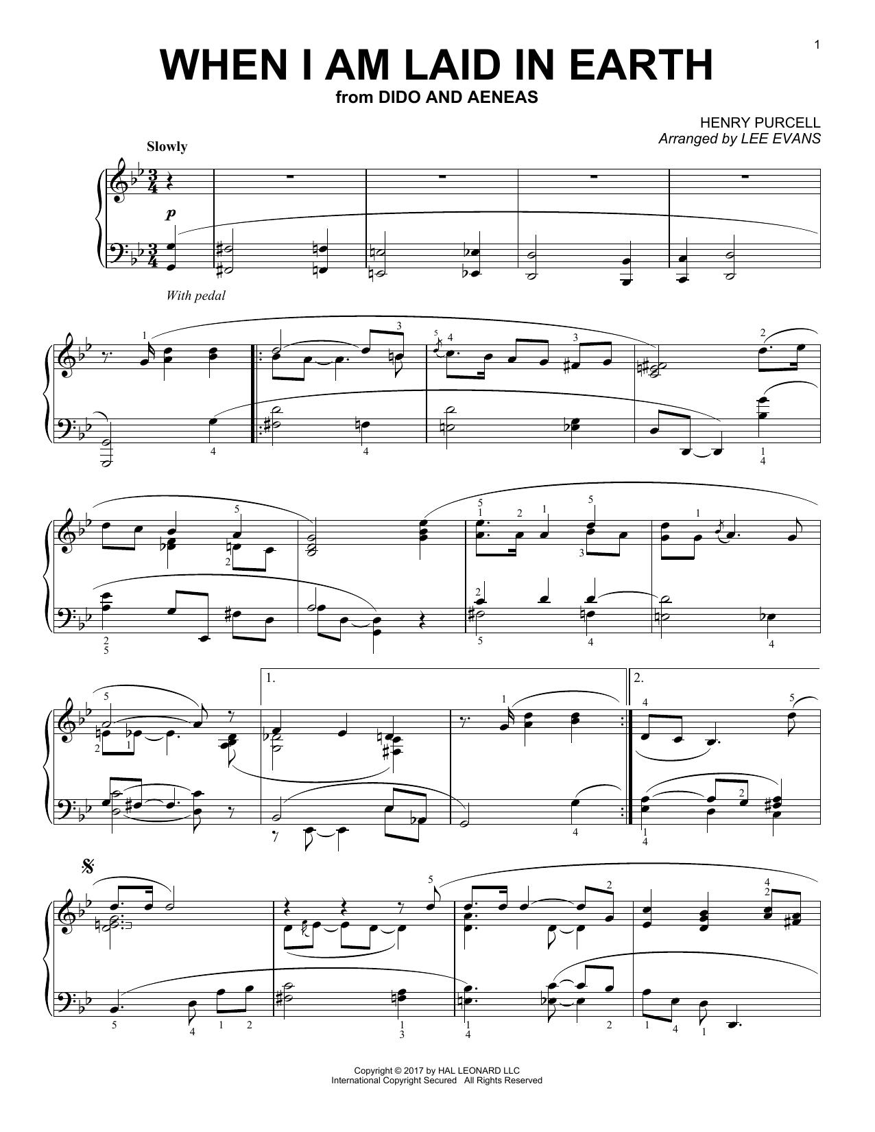 When I Am Laid In Earth (Piano Solo)