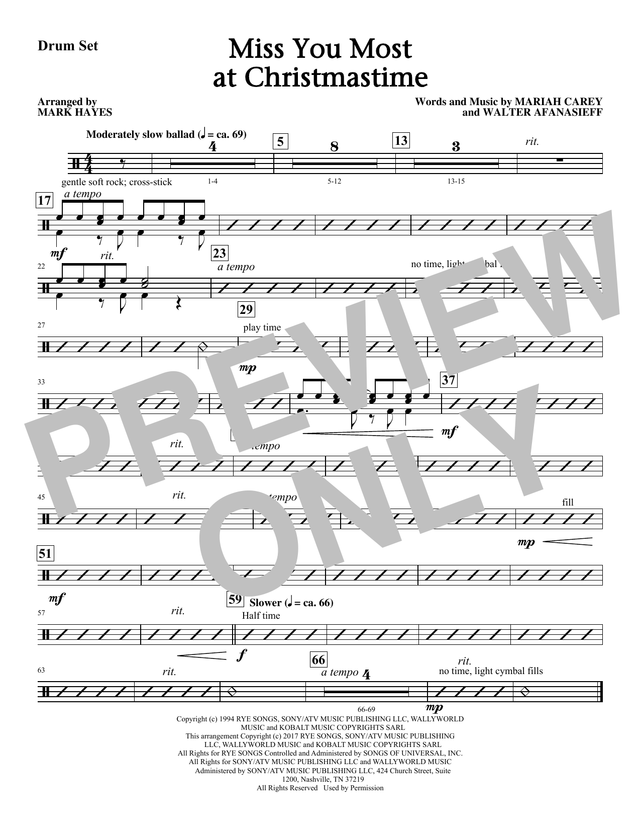 Miss You Most At Christmas Time - Drums (Choir Instrumental Pak)
