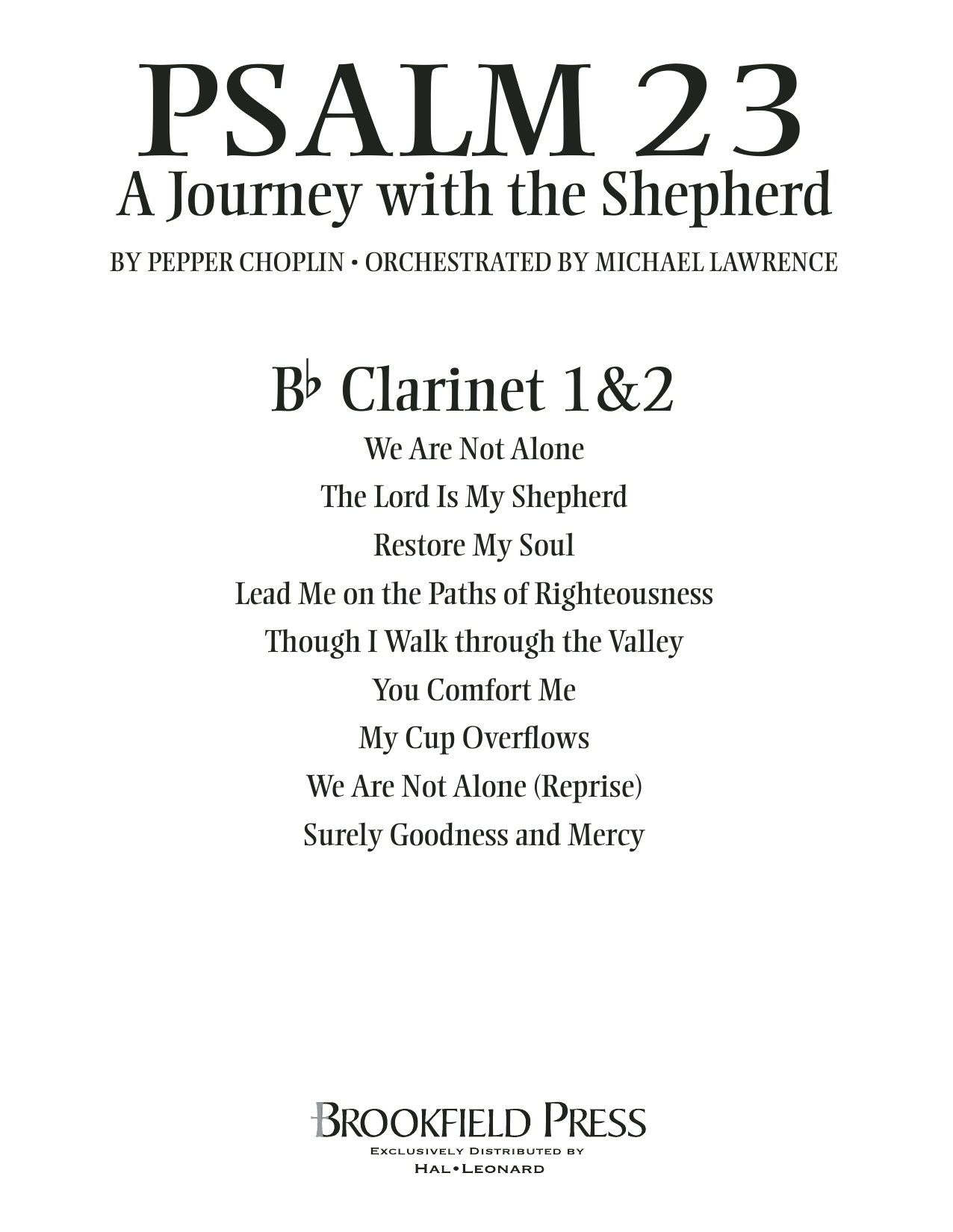 Psalm 23 - A Journey With The Shepherd - Bb Clarinet 1,2 Sheet Music