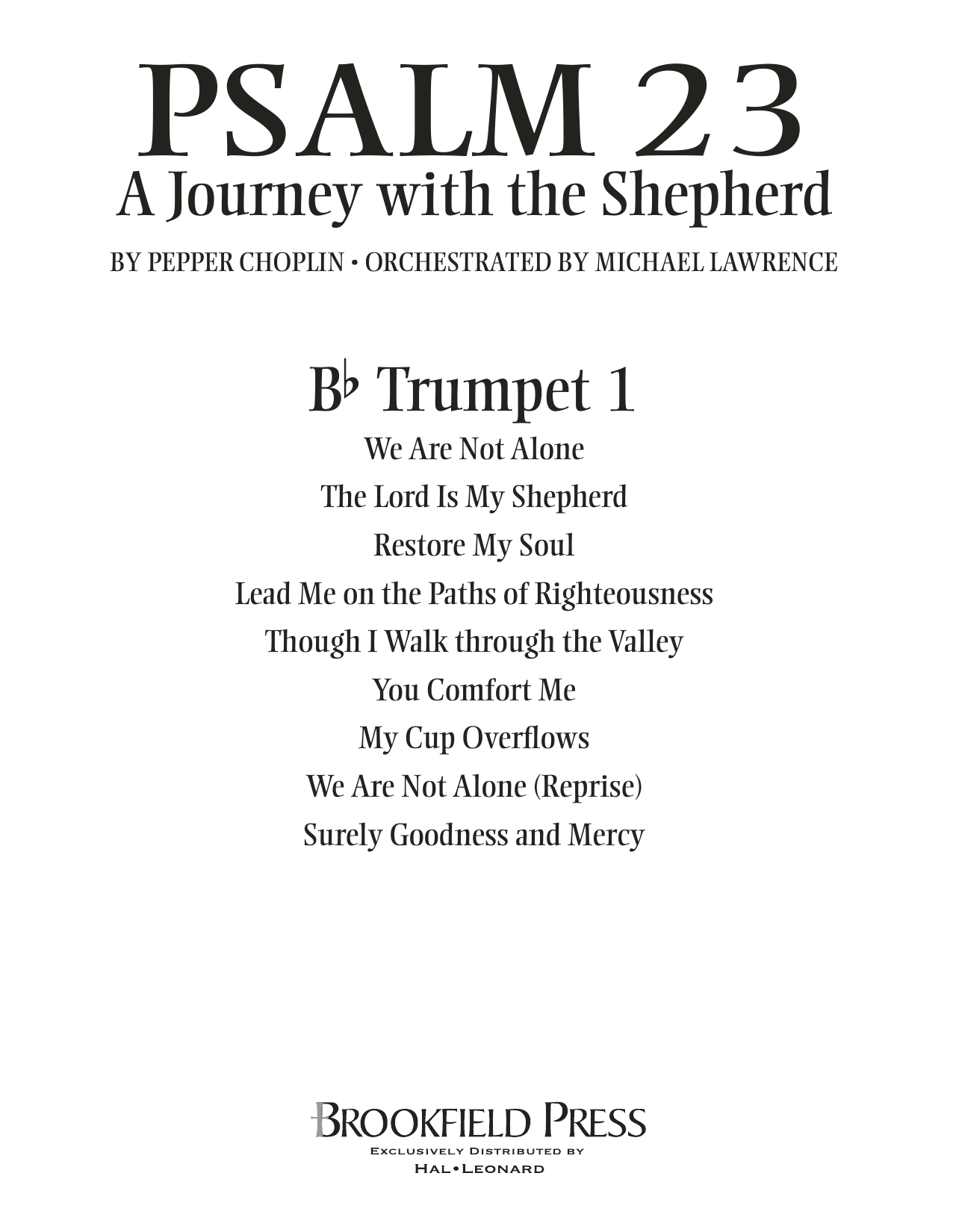 Psalm 23 - A Journey With The Shepherd - Bb Trumpet 1 Sheet Music