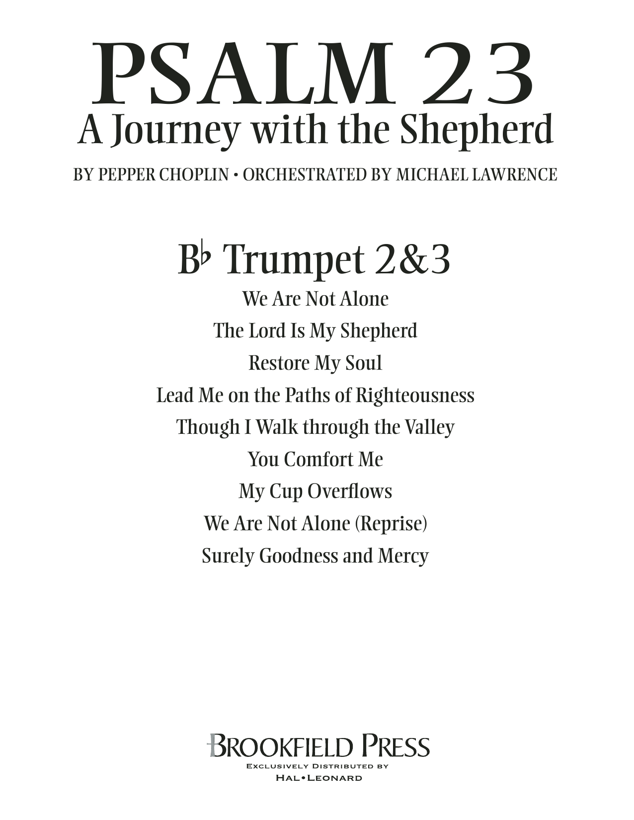 Psalm 23 - A Journey With The Shepherd - Bb Trumpet 2,3 Sheet Music