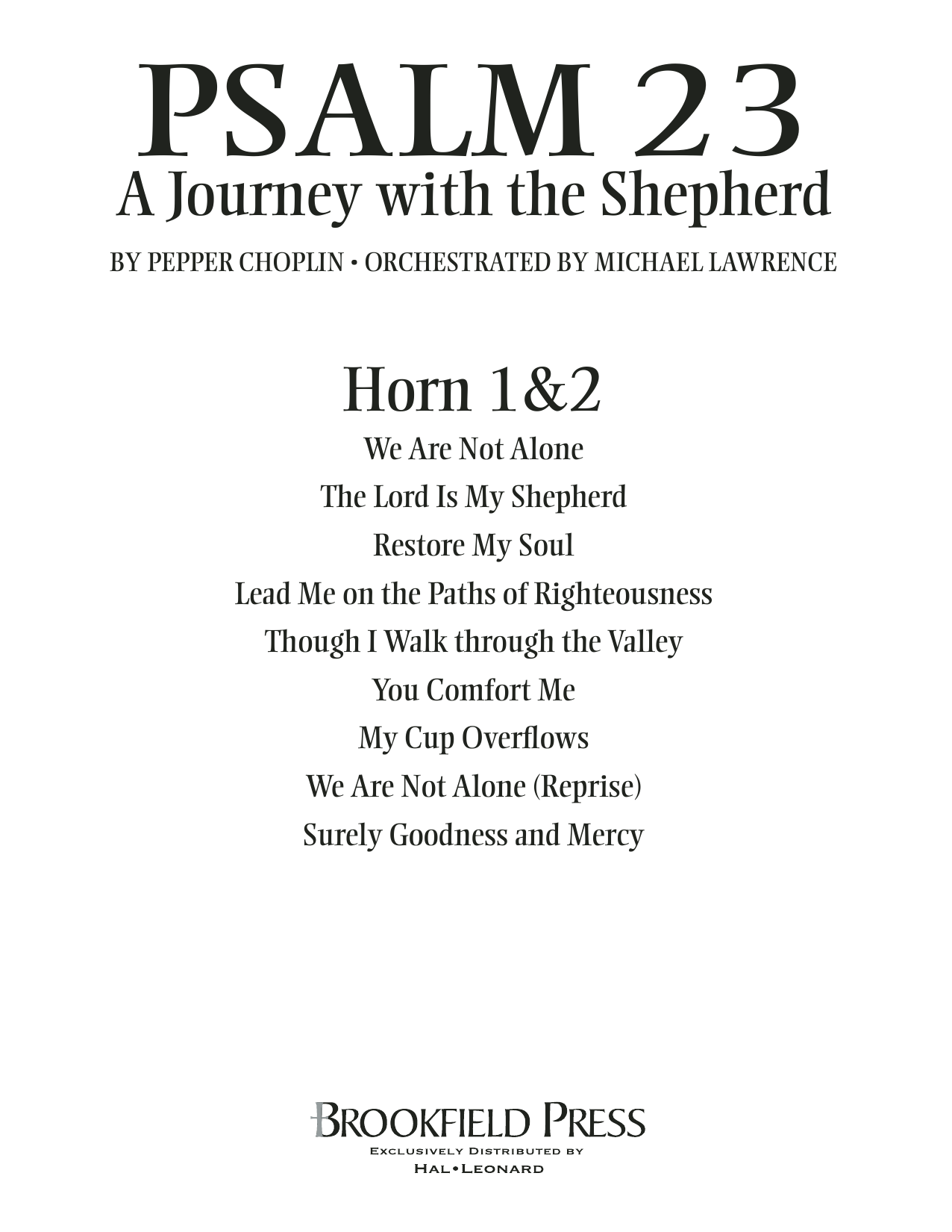 Psalm 23 - A Journey With The Shepherd - F Horn 1,2 Sheet Music