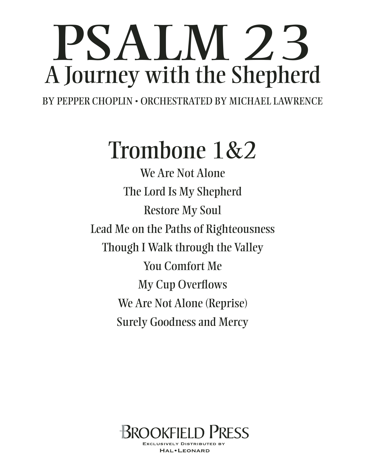 Psalm 23 - A Journey With The Shepherd - Trombone 1 & 2 Sheet Music