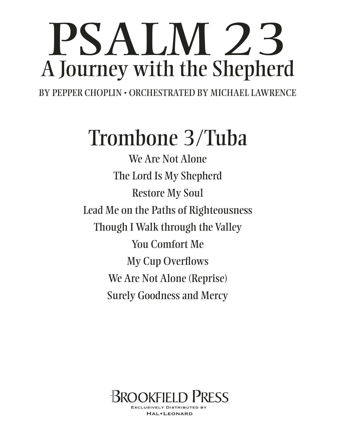 Psalm 23 - A Journey With The Shepherd - Trombone 3/Tuba Sheet Music