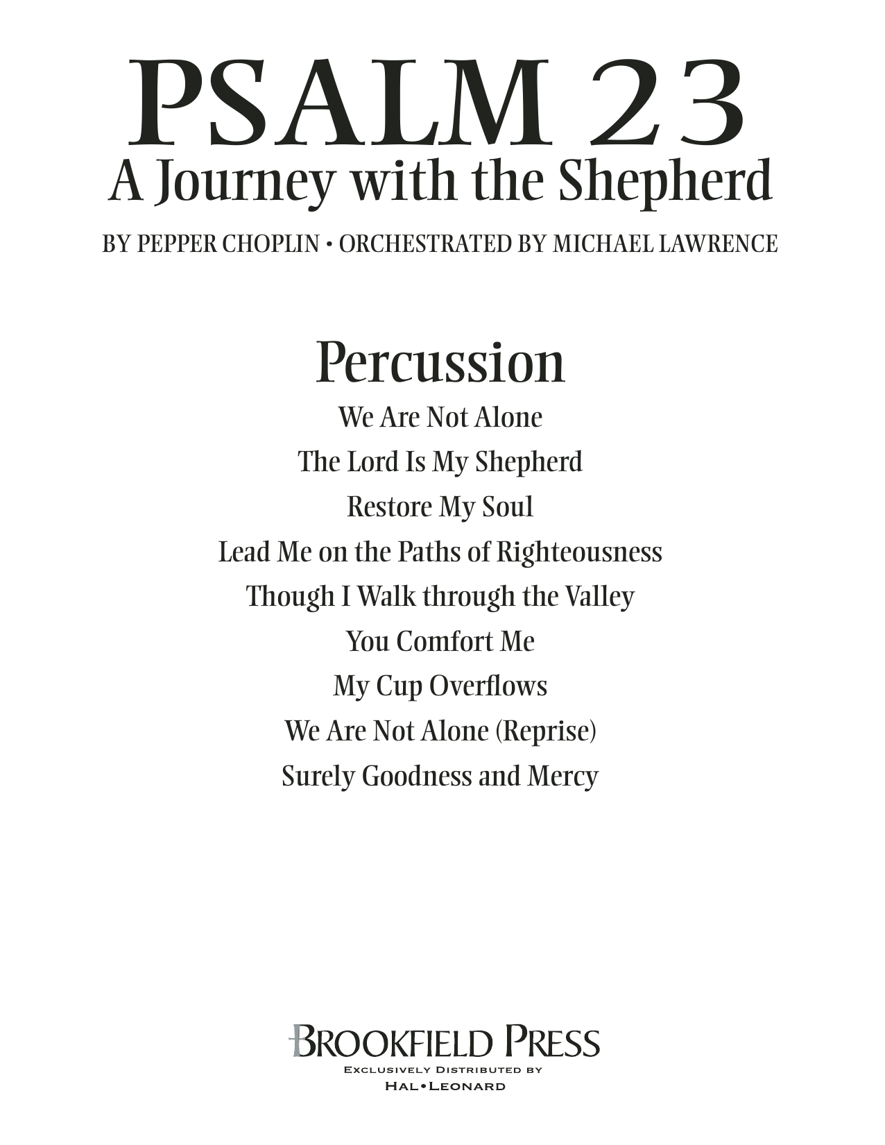Psalm 23 - A Journey With The Shepherd - Percussion Sheet Music