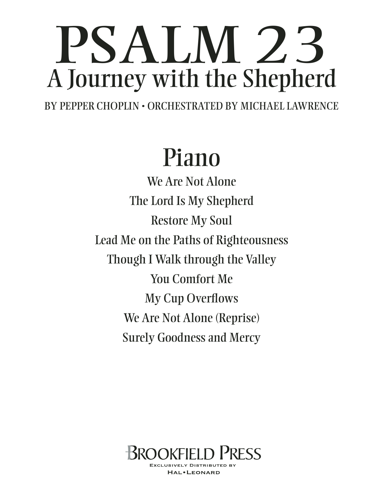 Psalm 23 - A Journey With The Shepherd - Piano Sheet Music