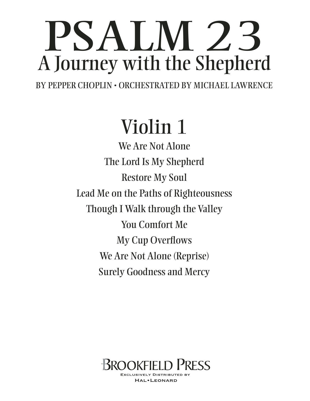 Psalm 23 - A Journey With The Shepherd - Violin 1 Digitale Noten