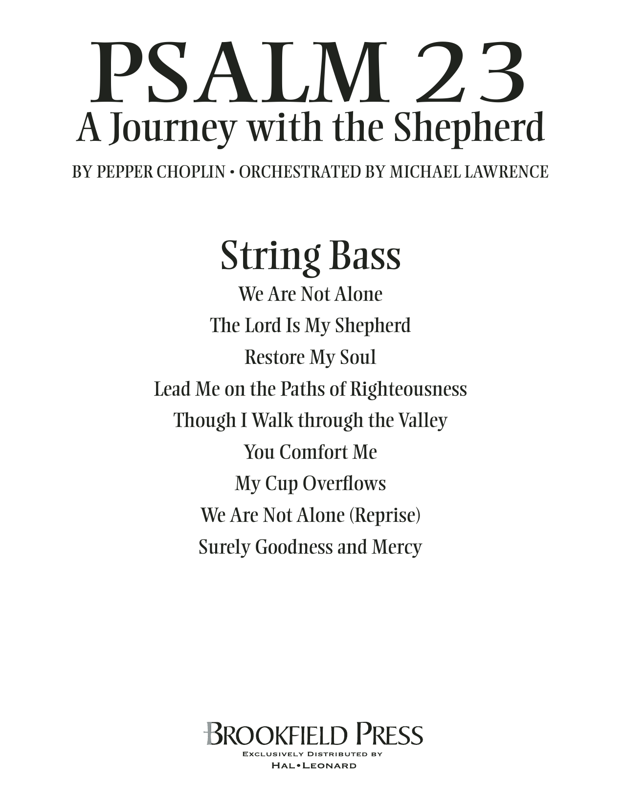 Psalm 23 - A Journey With The Shepherd - String Bass Sheet Music