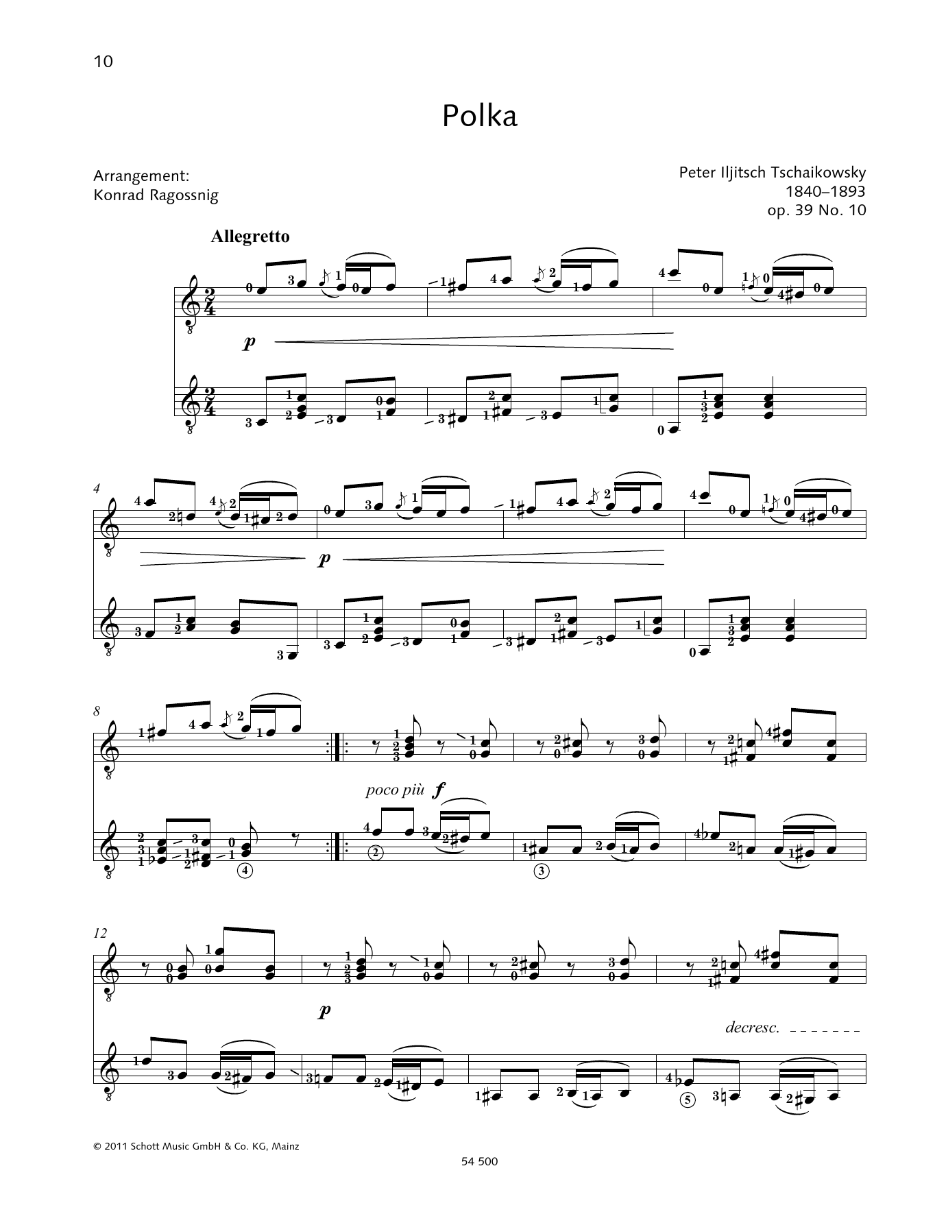 Polka - Full Score Sheet Music