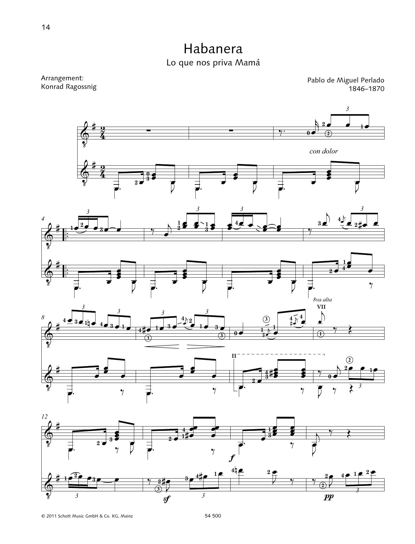 Habañera - Full Score Sheet Music