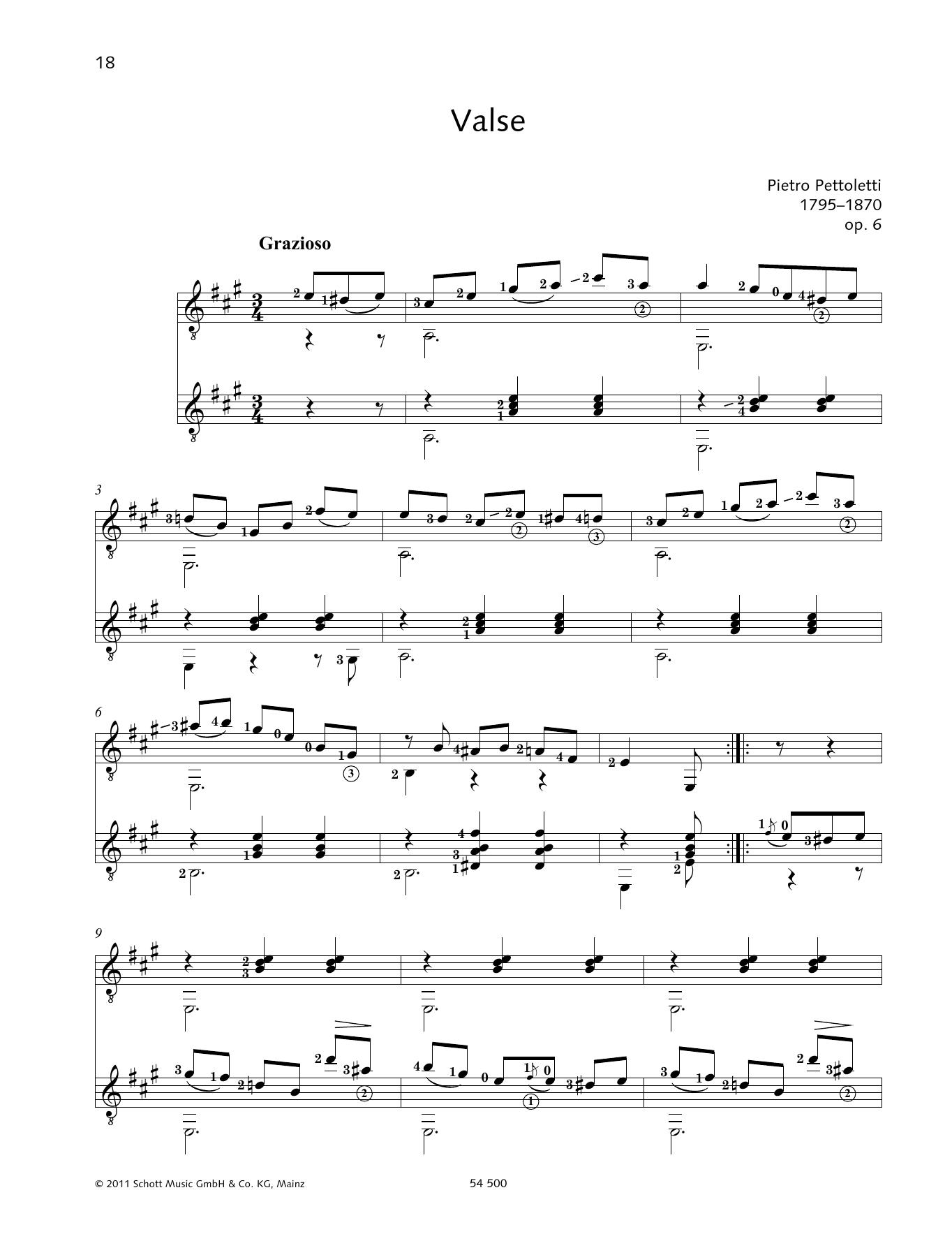 Valse - Full Score Sheet Music
