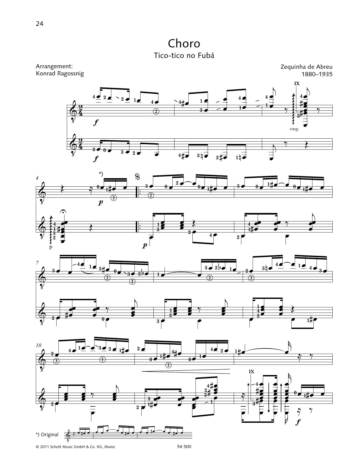 Choro - Full Score Sheet Music