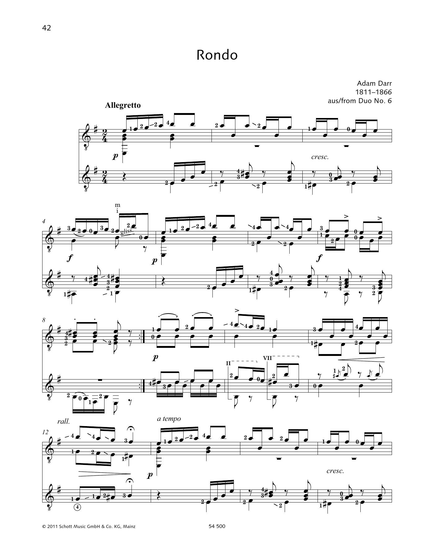 Rondo - Full Score Sheet Music