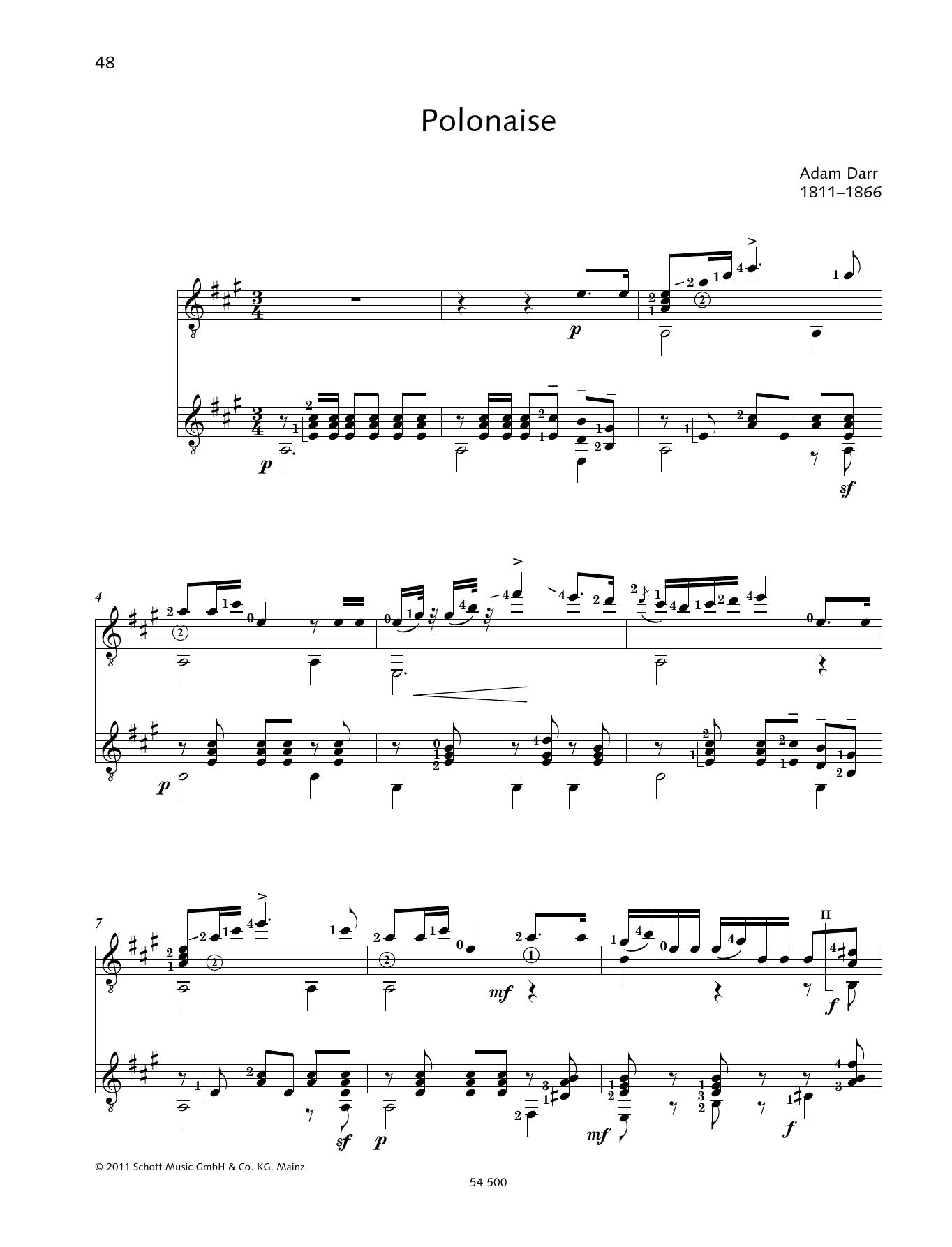 Polonaise - Full Score Sheet Music