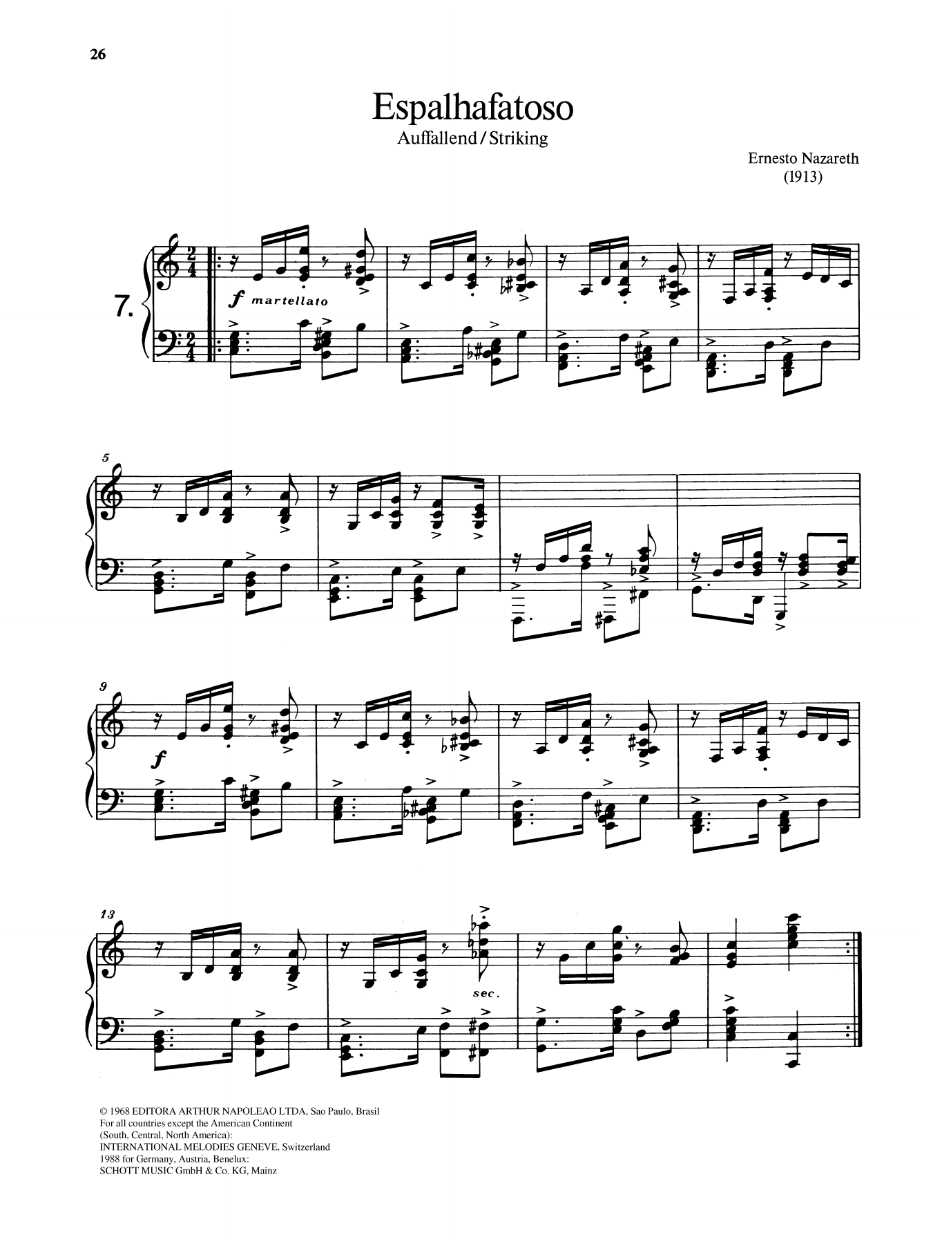 Espalhafatoso Sheet Music