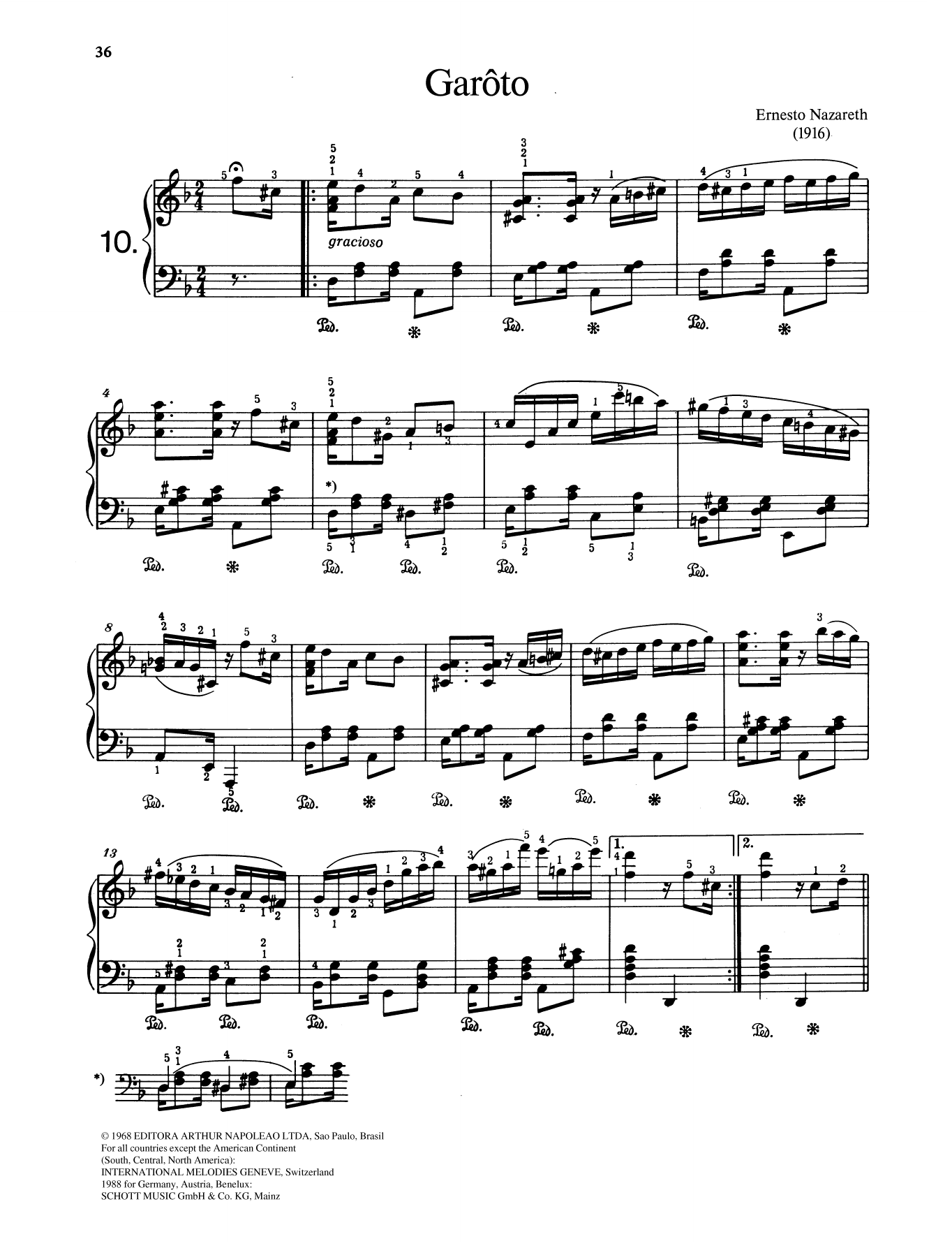 Garôto Sheet Music