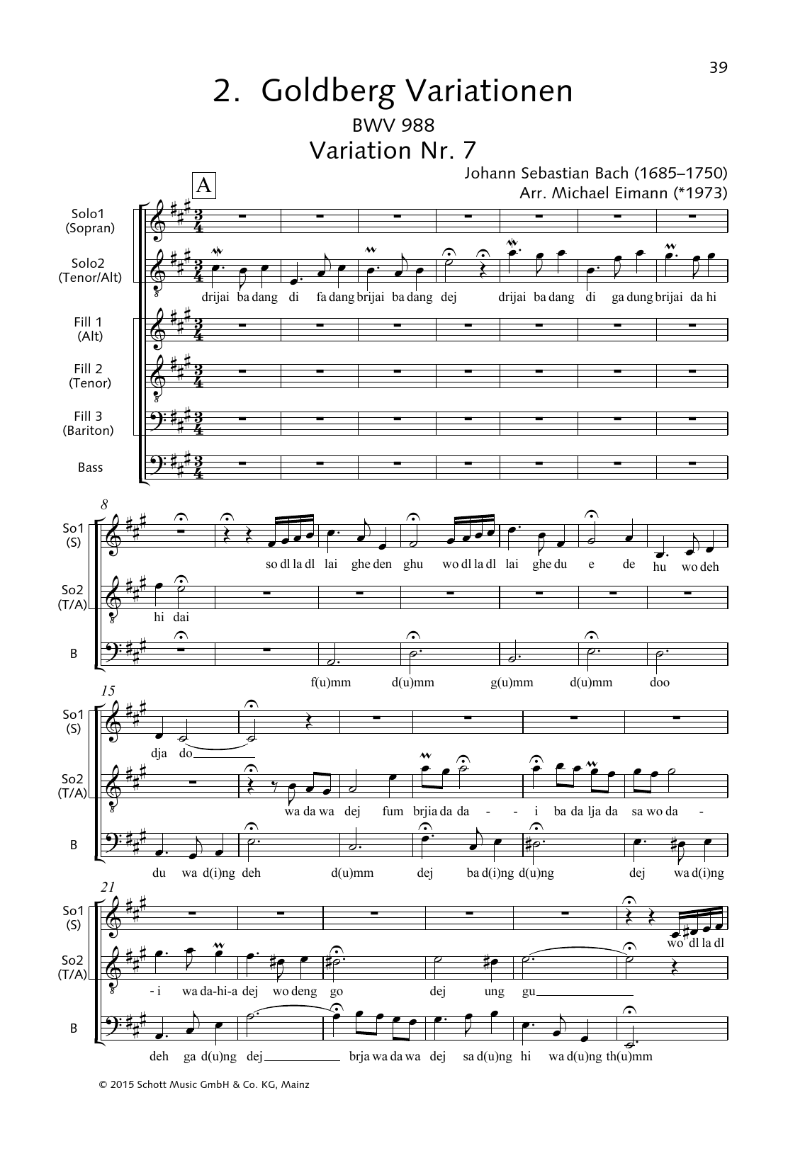 Goldberg Variations, Variation No. 7 Sheet Music