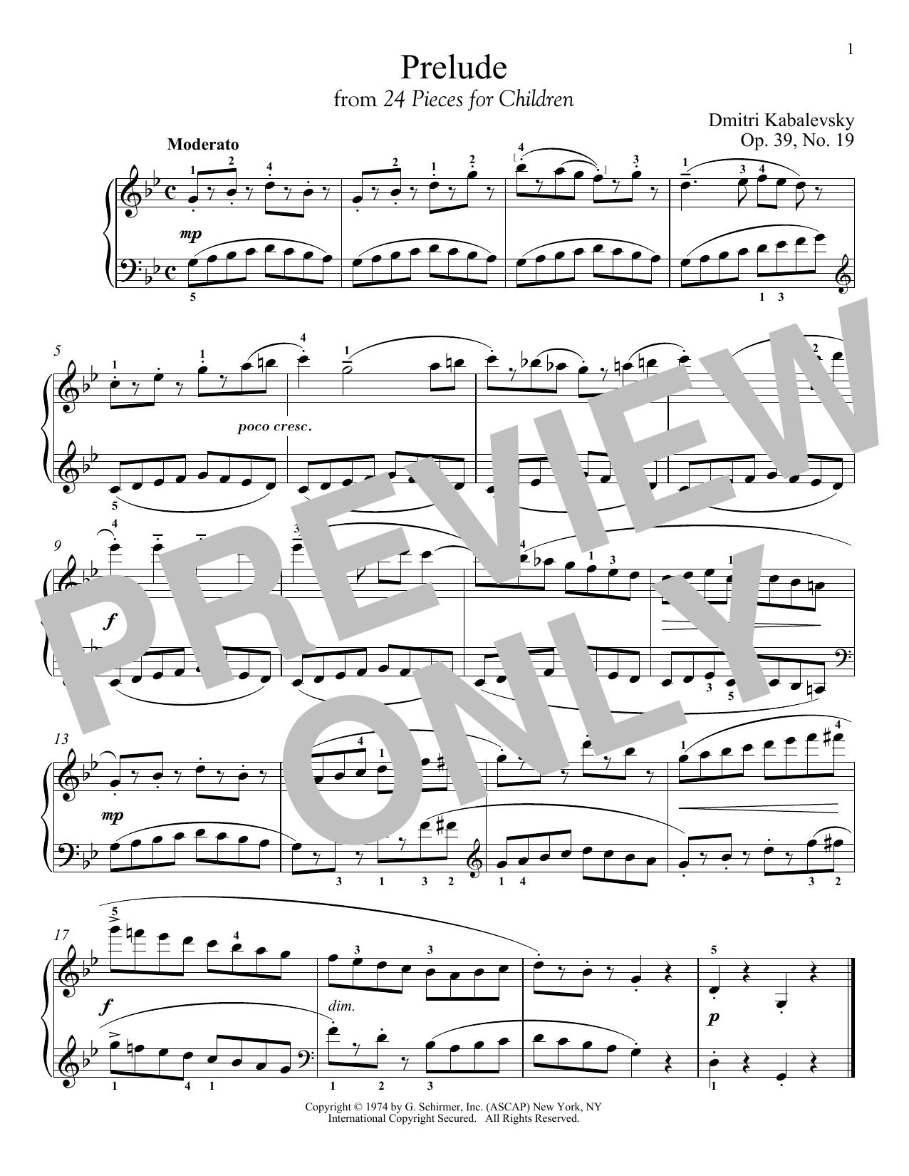 Prelude, Op. 39, No. 19 (Piano Solo)