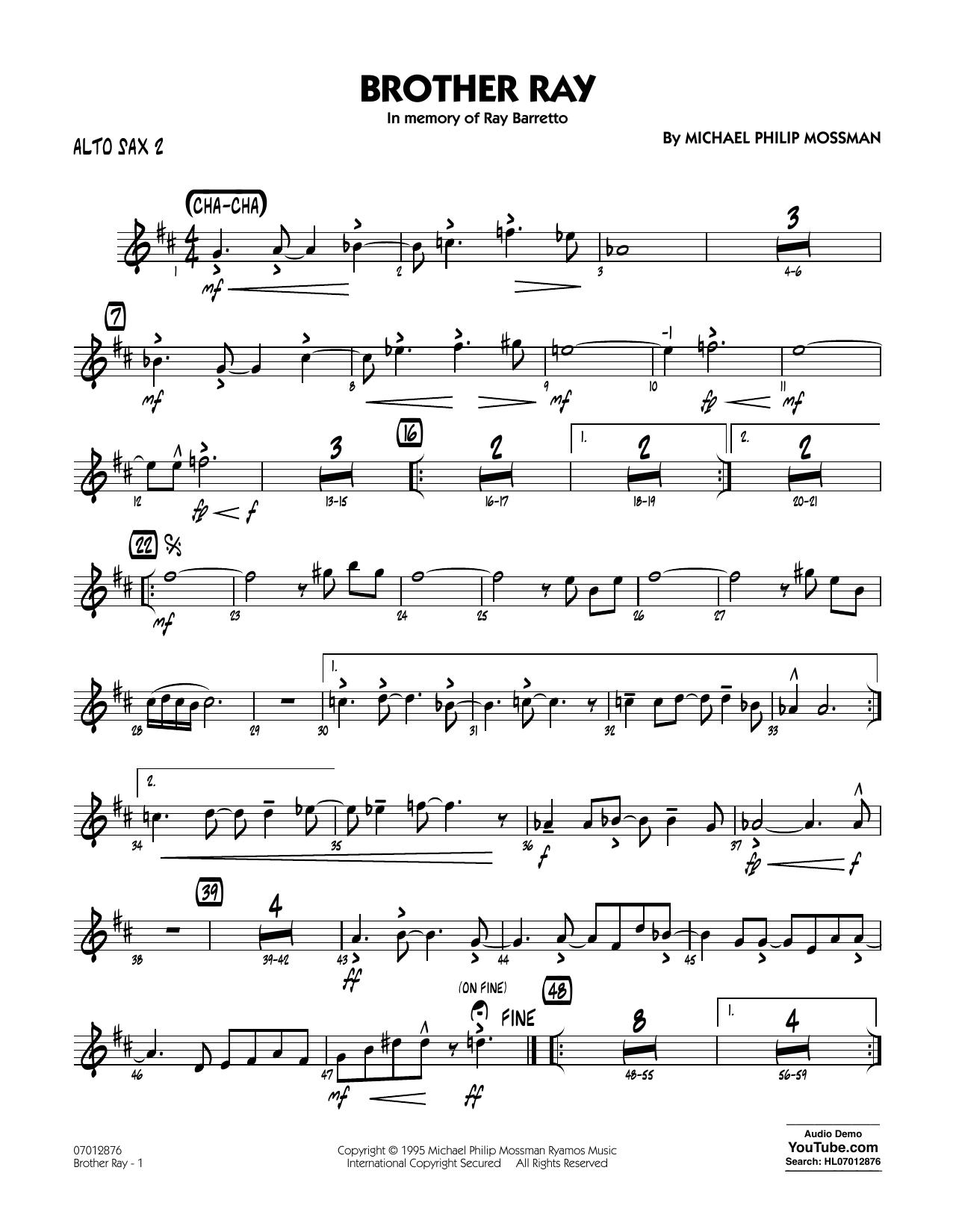 Brother Ray - Alto Sax 2 (Jazz Ensemble)