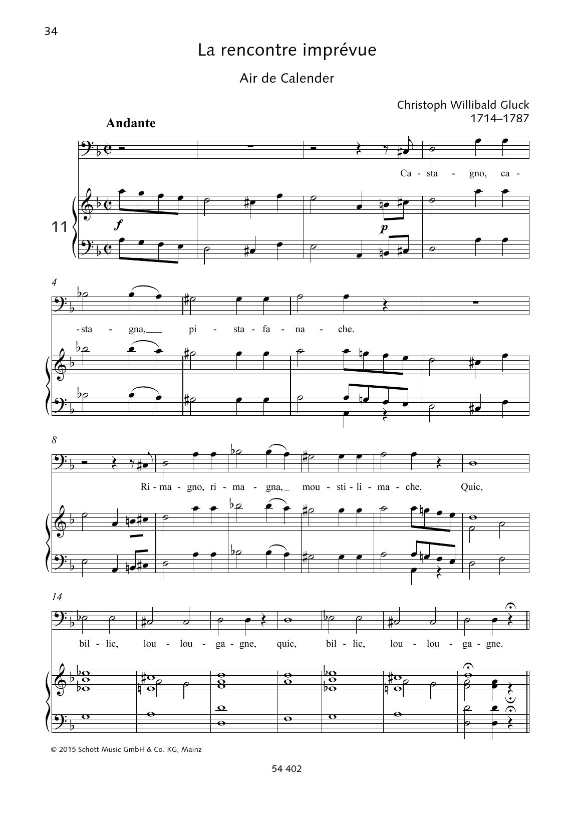 Castagno, castagna, pistafanache Sheet Music
