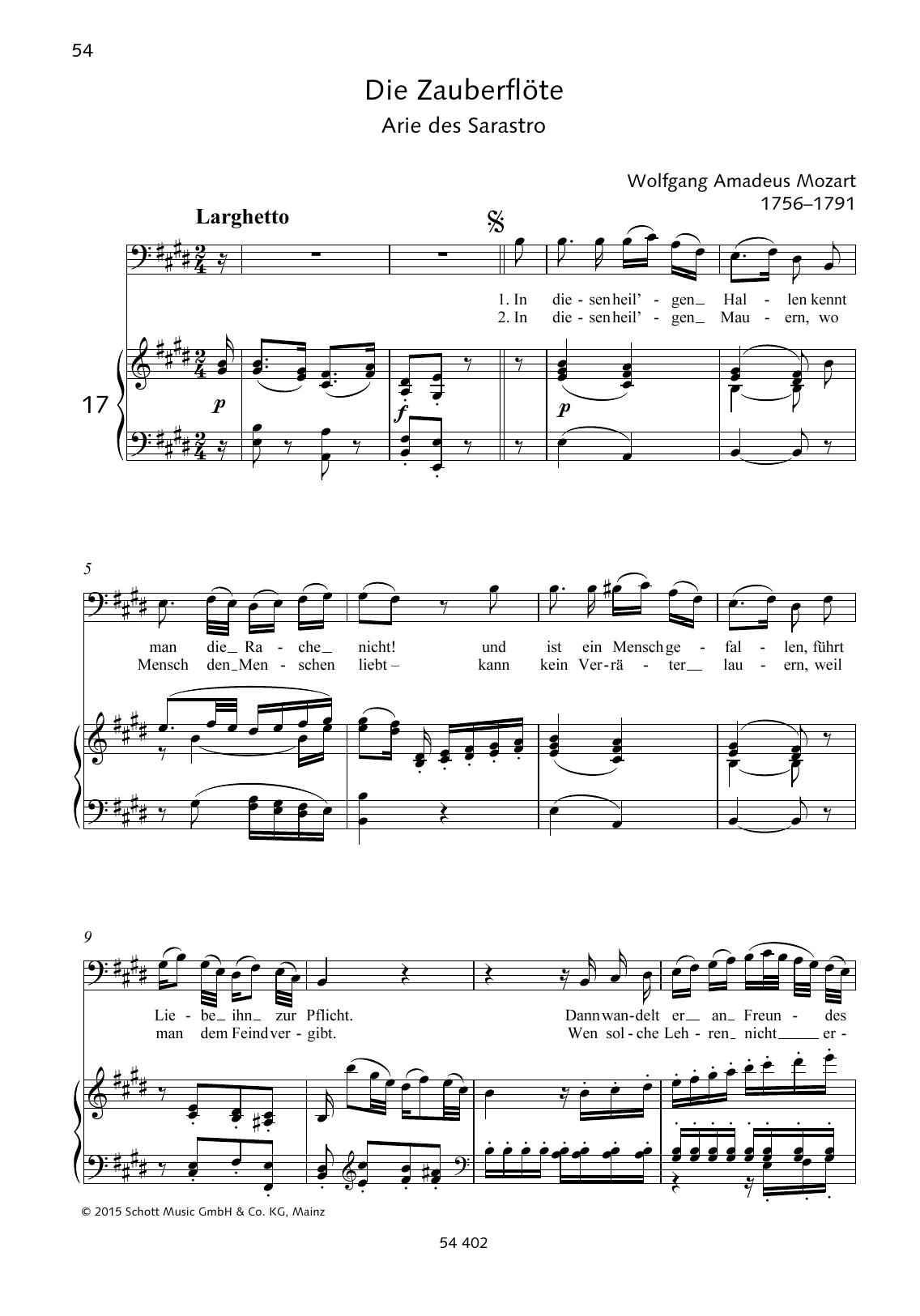 In diesen heil'gen Hallen Sheet Music