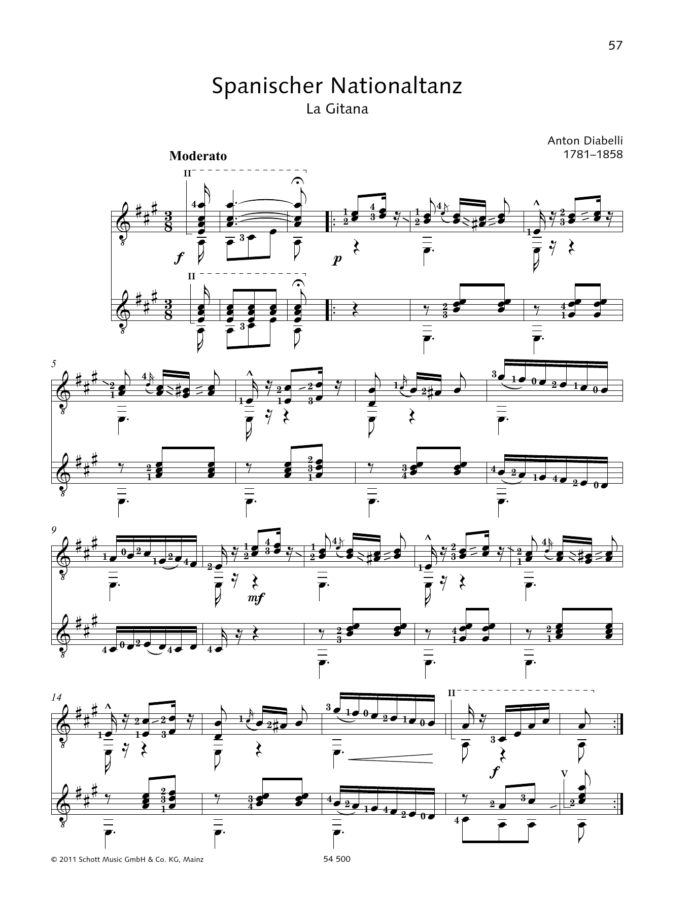 Spanischer Nationaltanz - Full Score Sheet Music
