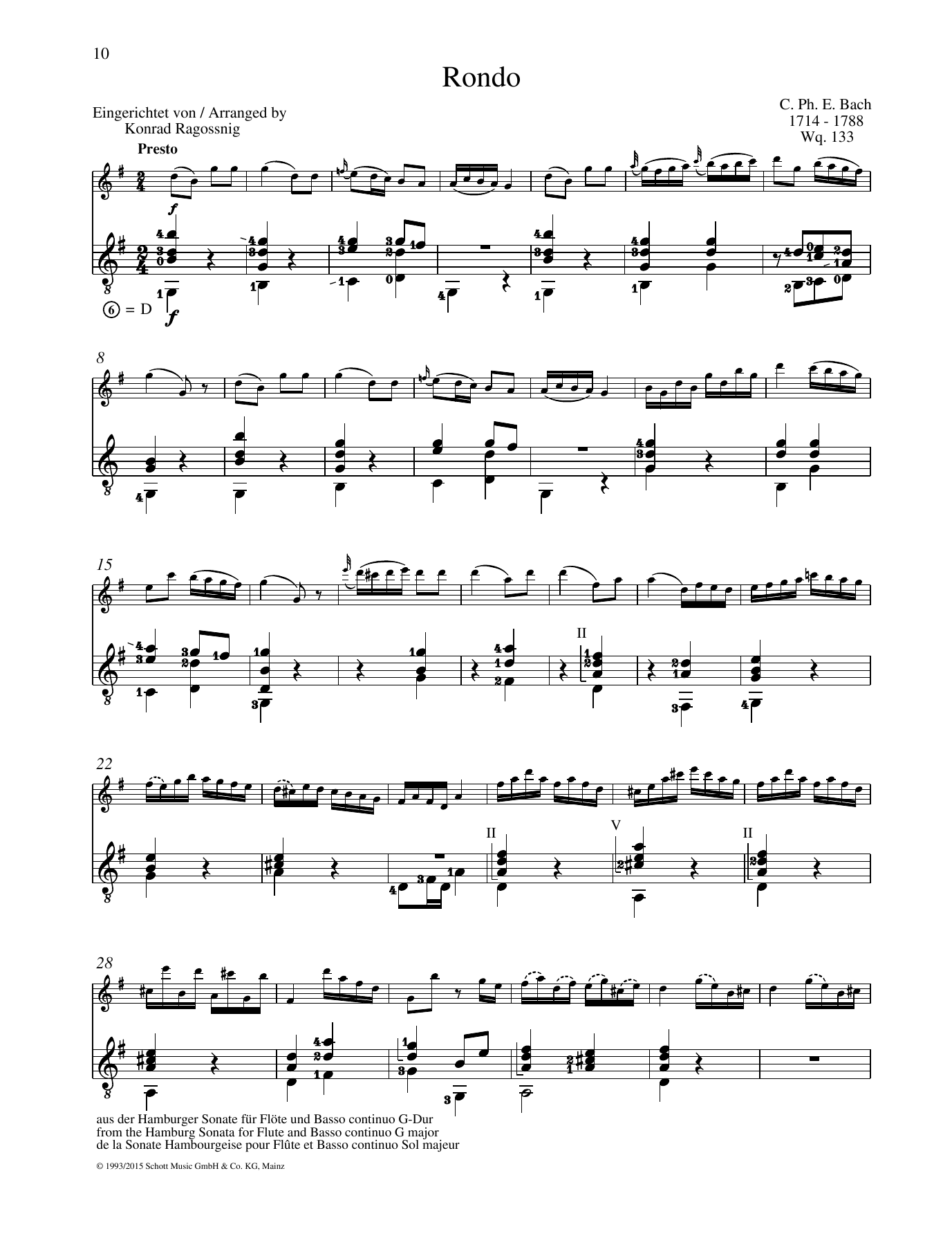 Rondo - Full Score Partition Digitale