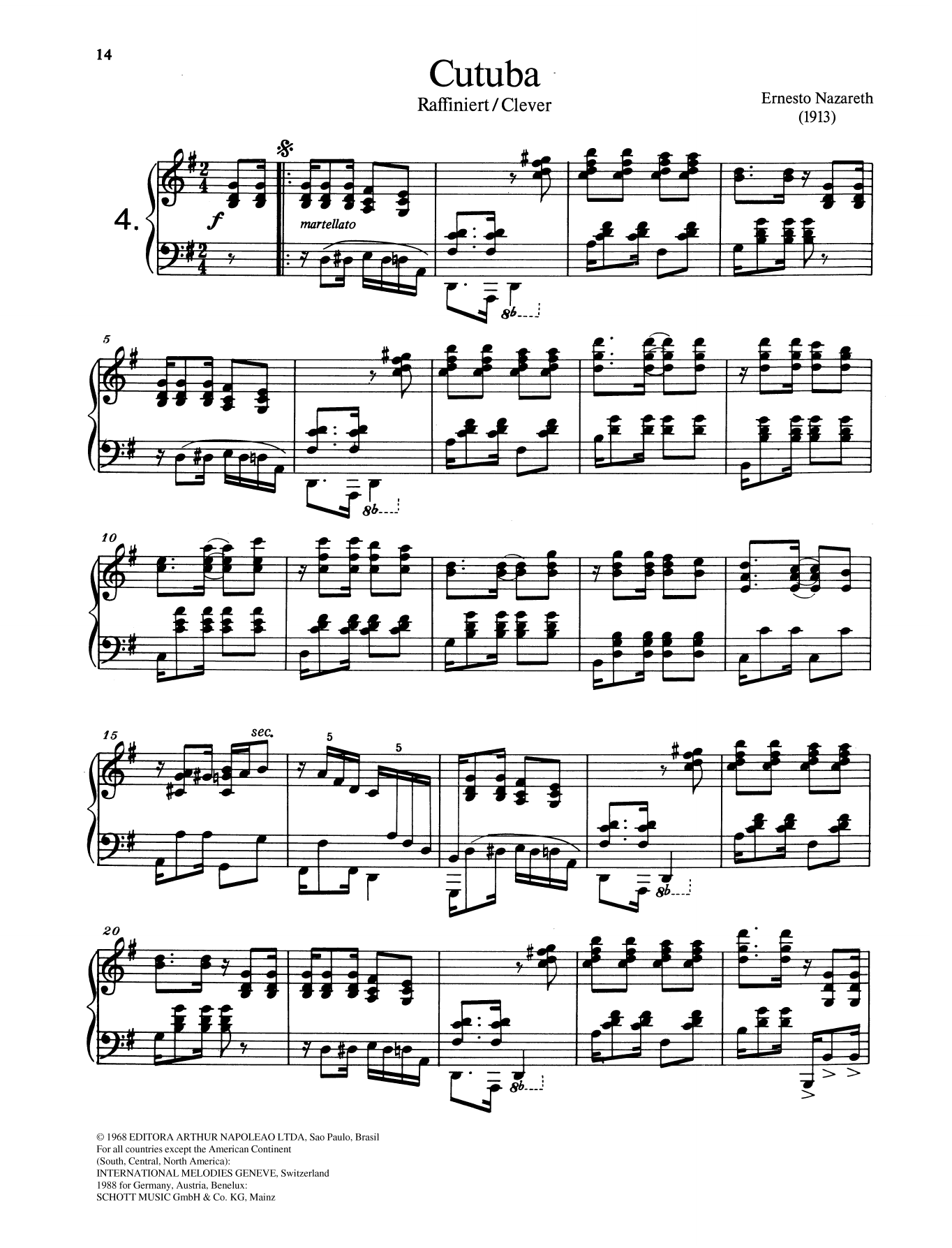 Cutuba Sheet Music