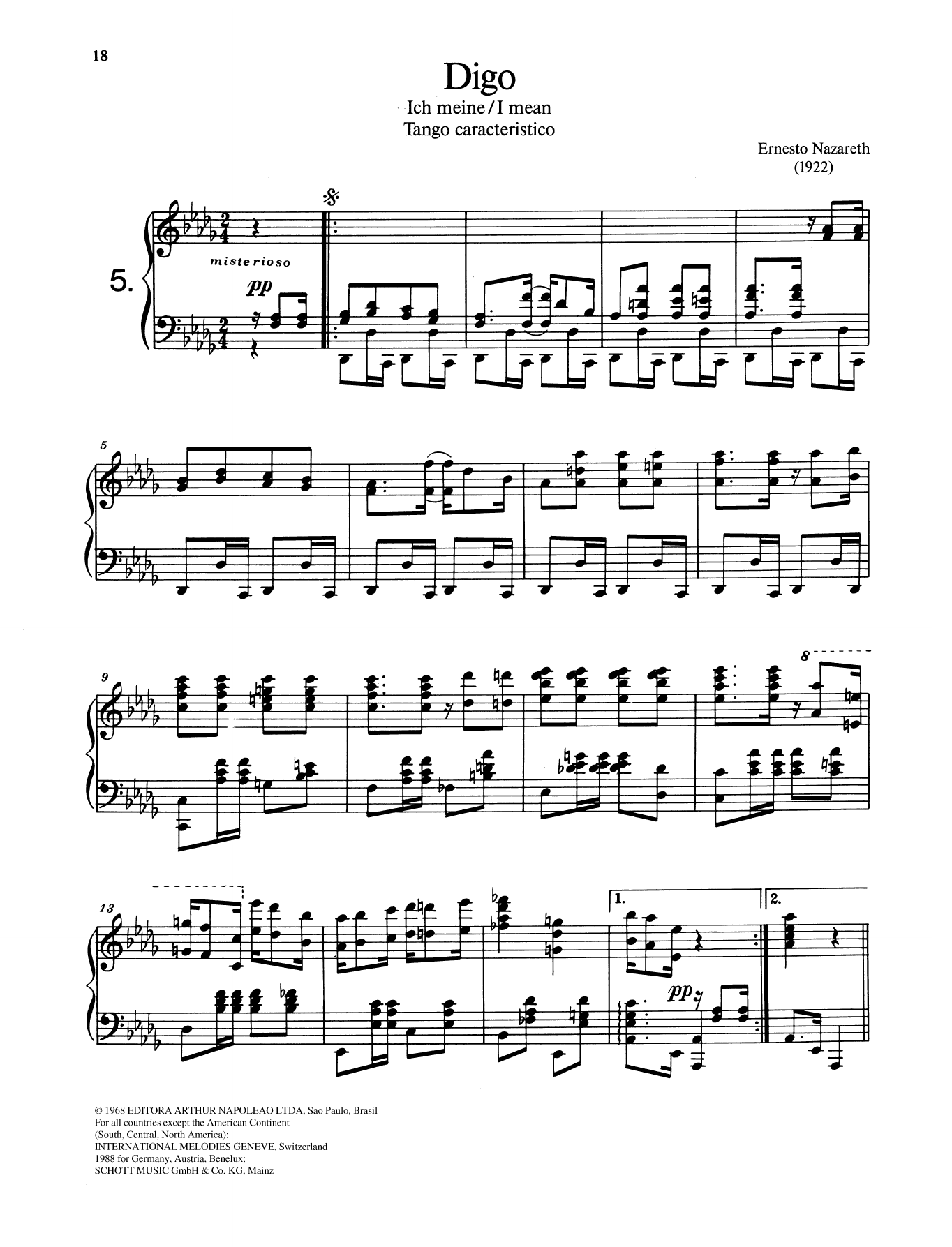 Digo Sheet Music