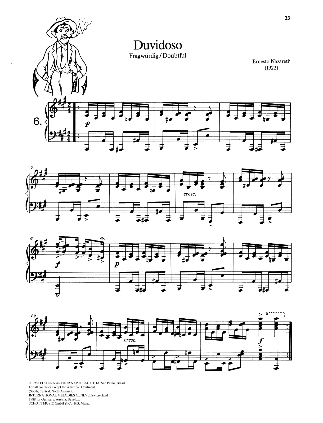 Duvidoso Sheet Music