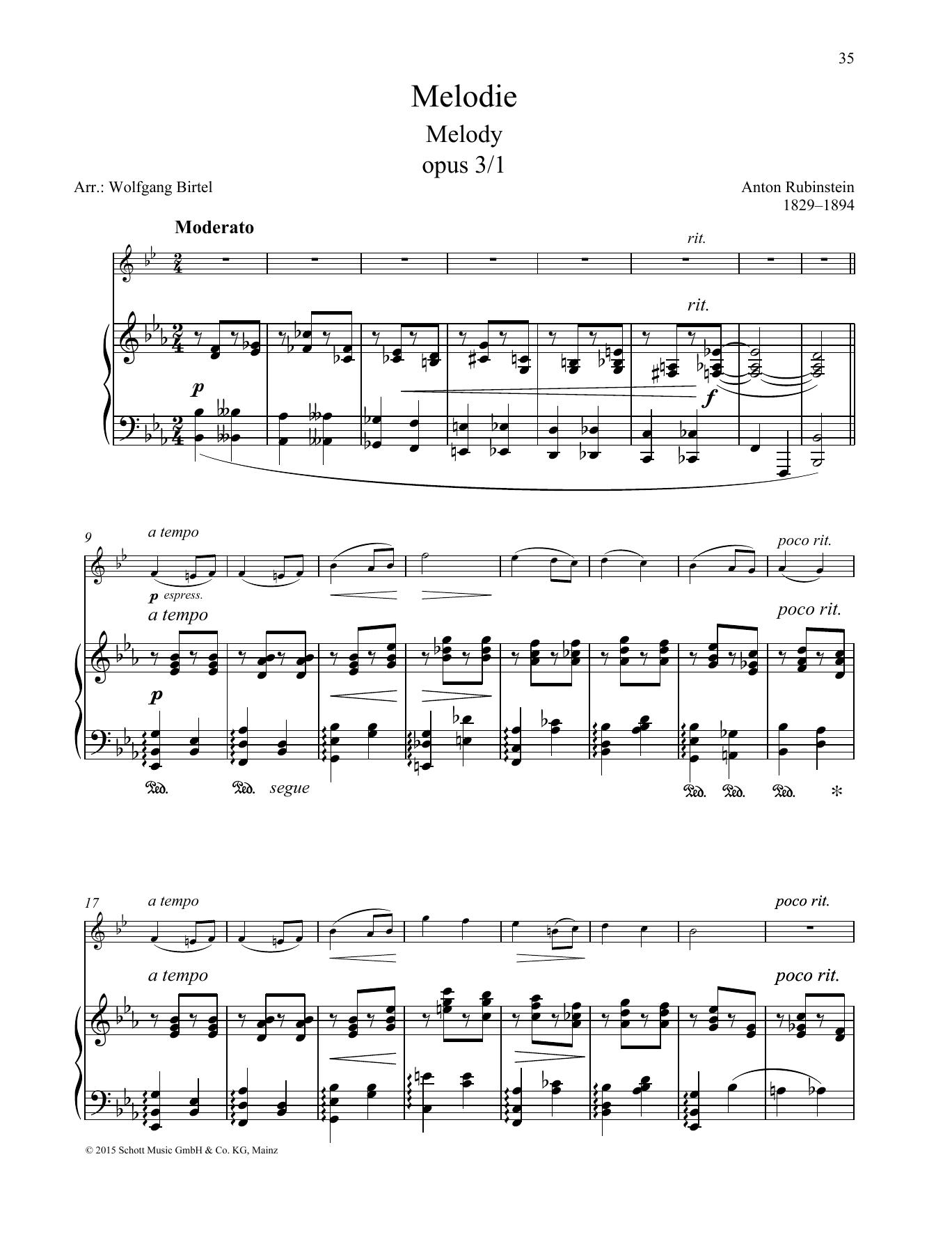 Melody Digitale Noten