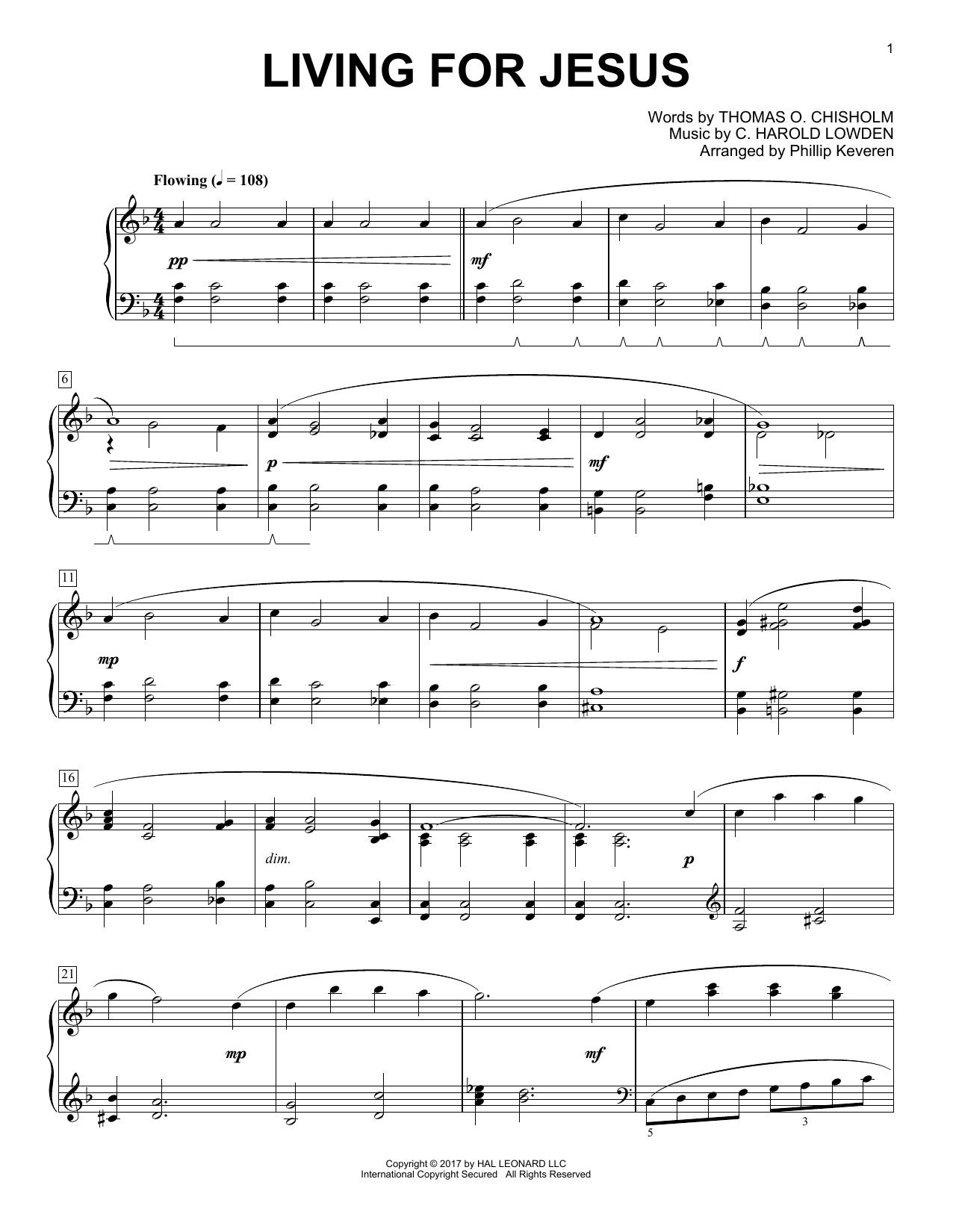Living For Jesus (Piano Solo)