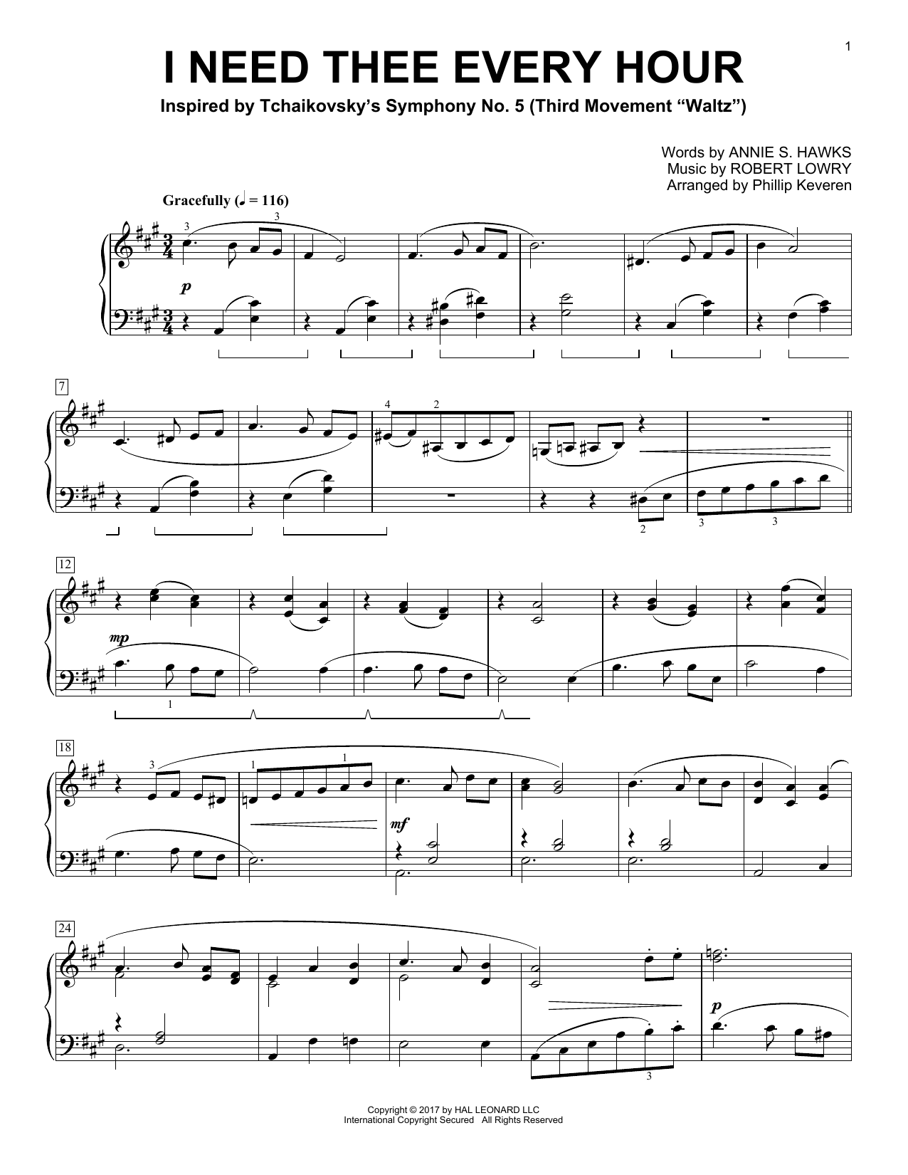 I Need Thee Every Hour (Piano Solo)