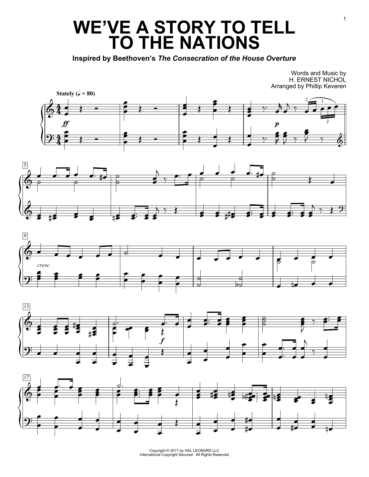 We've A Story To Tell To The Nations (Piano Solo)
