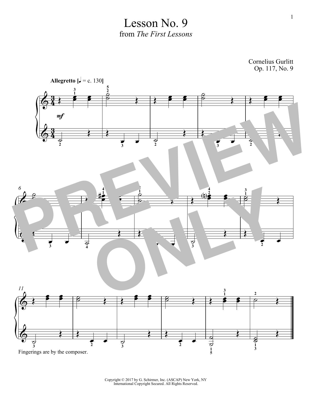 Allegretto, Op. 117, No. 9 (Piano Solo)