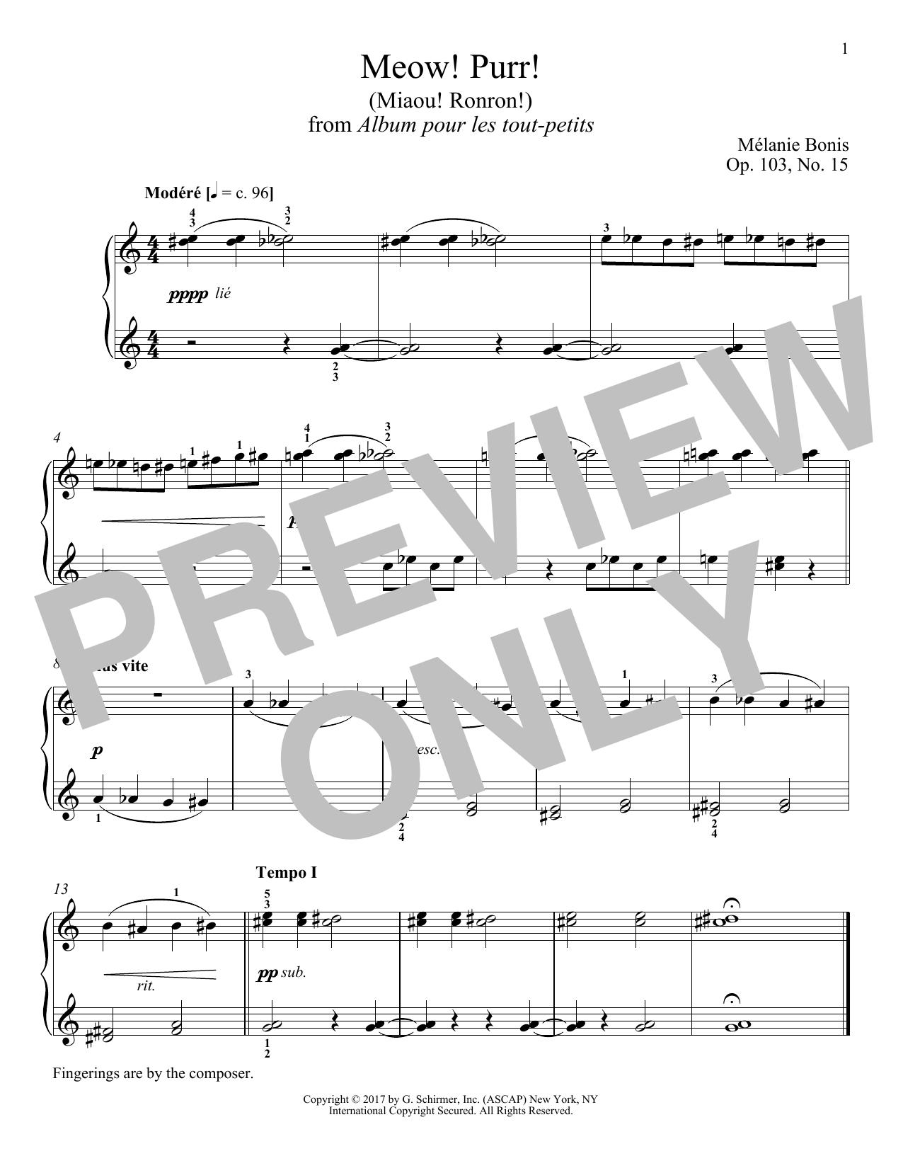 Meow! Purr! (Miaou! Ronron!) (Piano Solo)