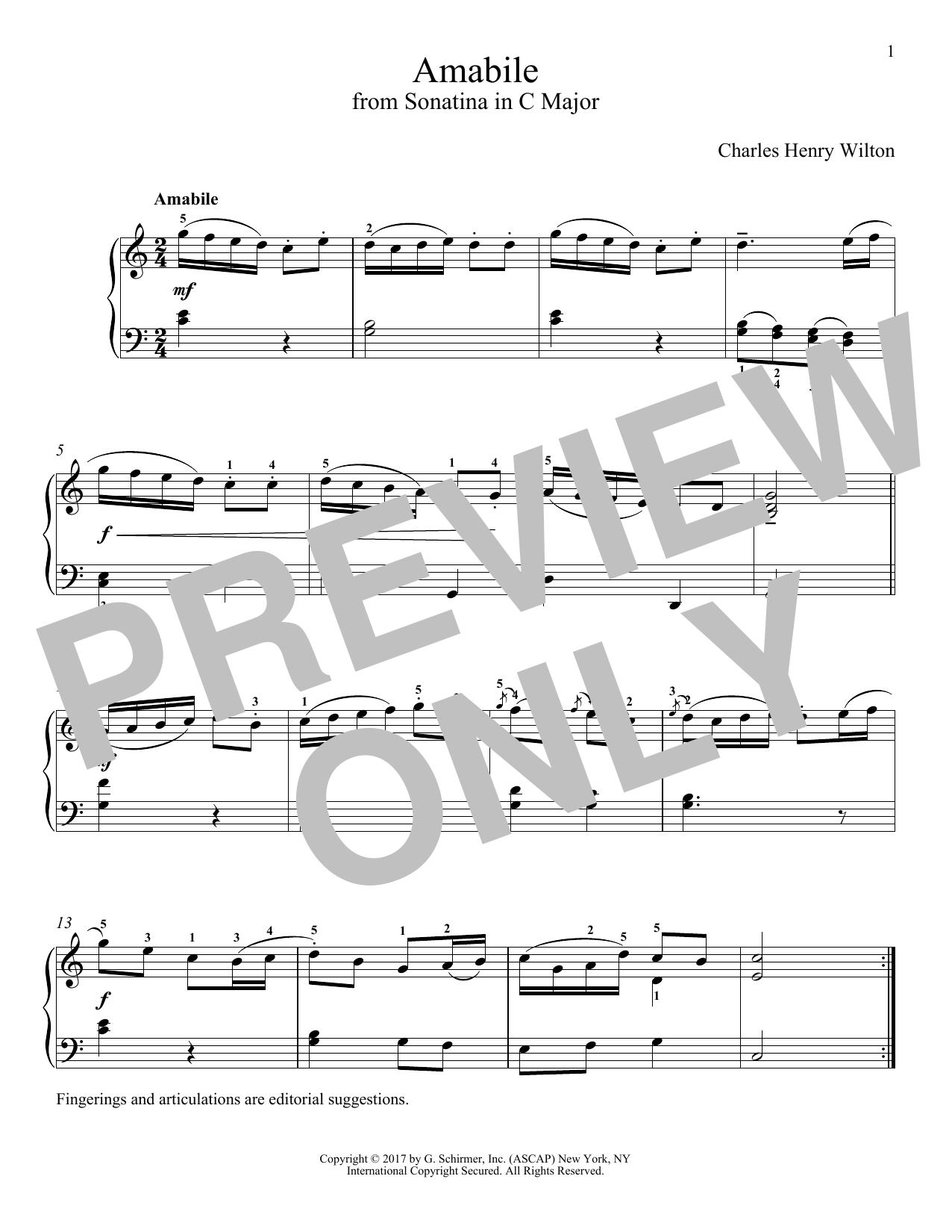 Amabile (Piano Solo)