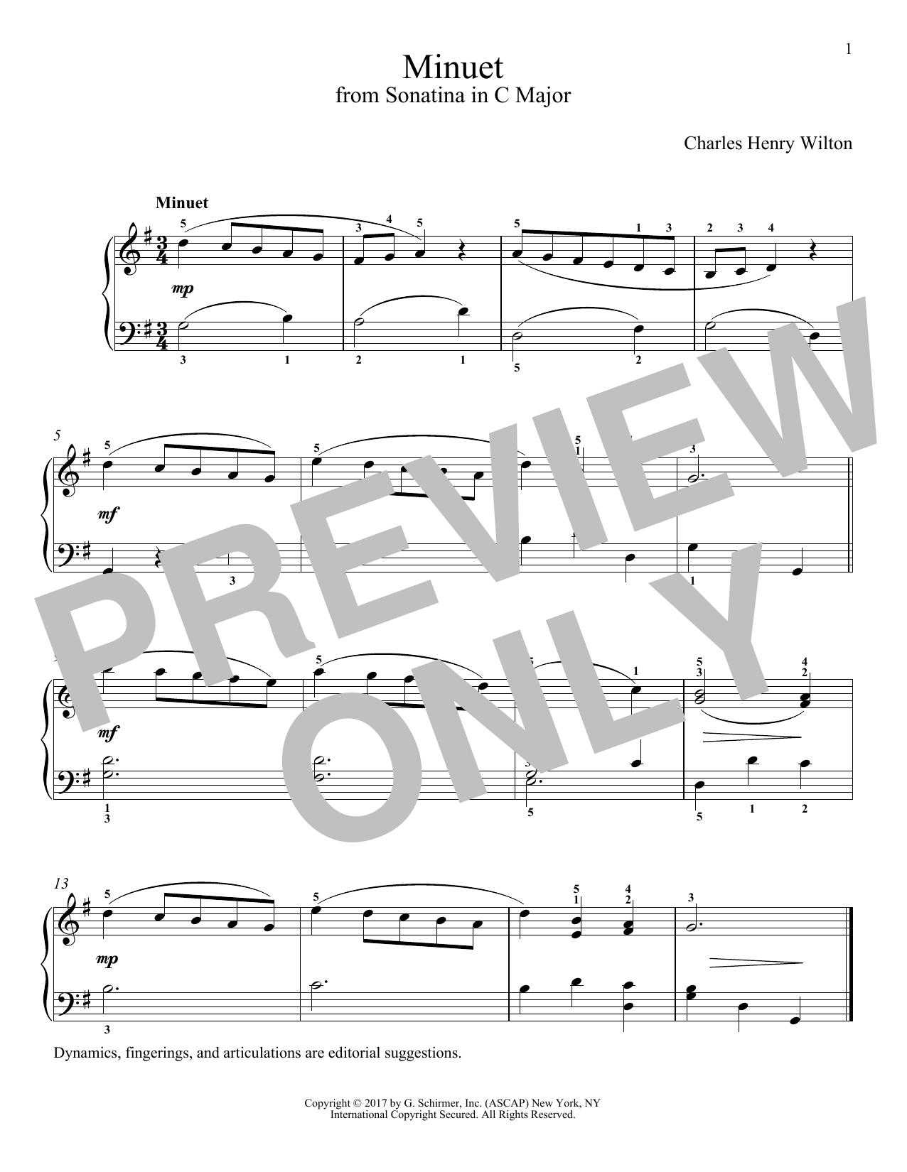 Minuet (Piano Solo)
