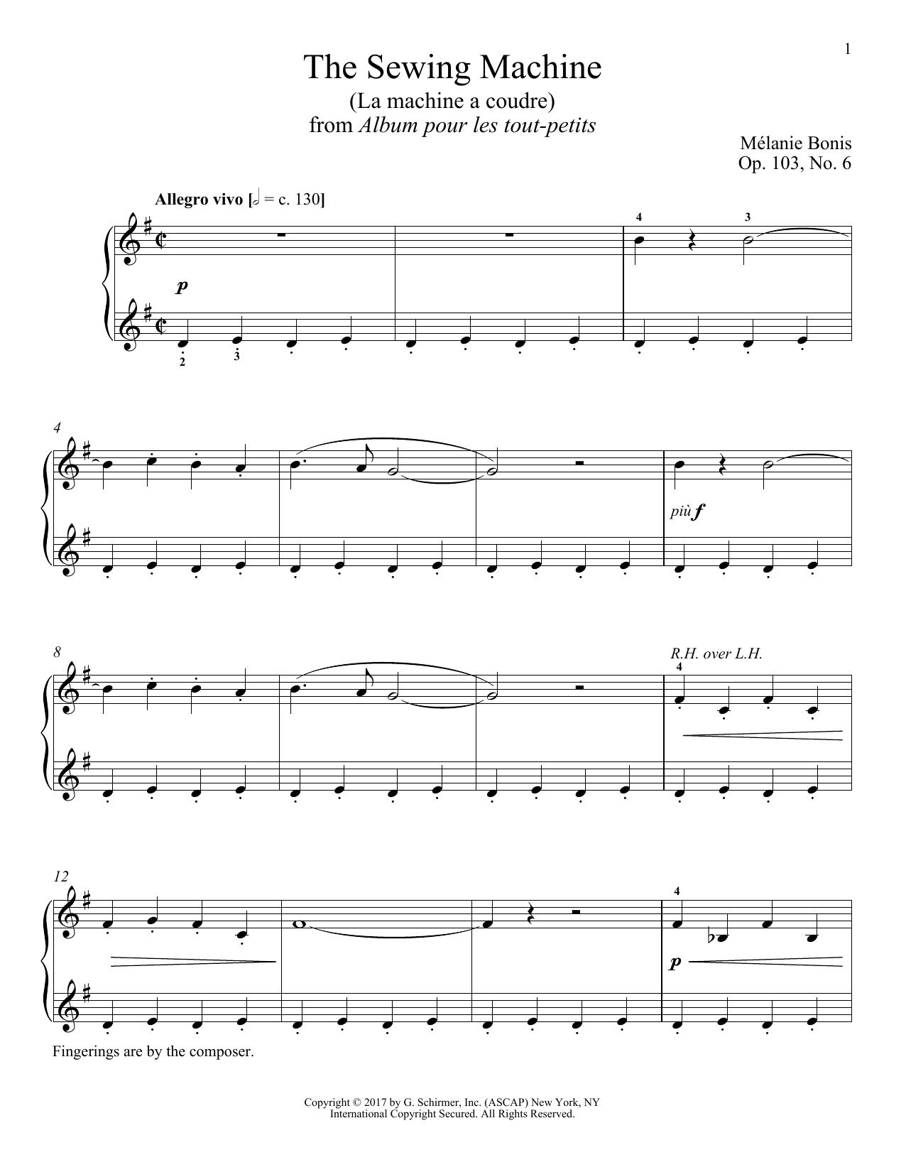 The Sewing Machine (La machine a courde) (Piano Solo)